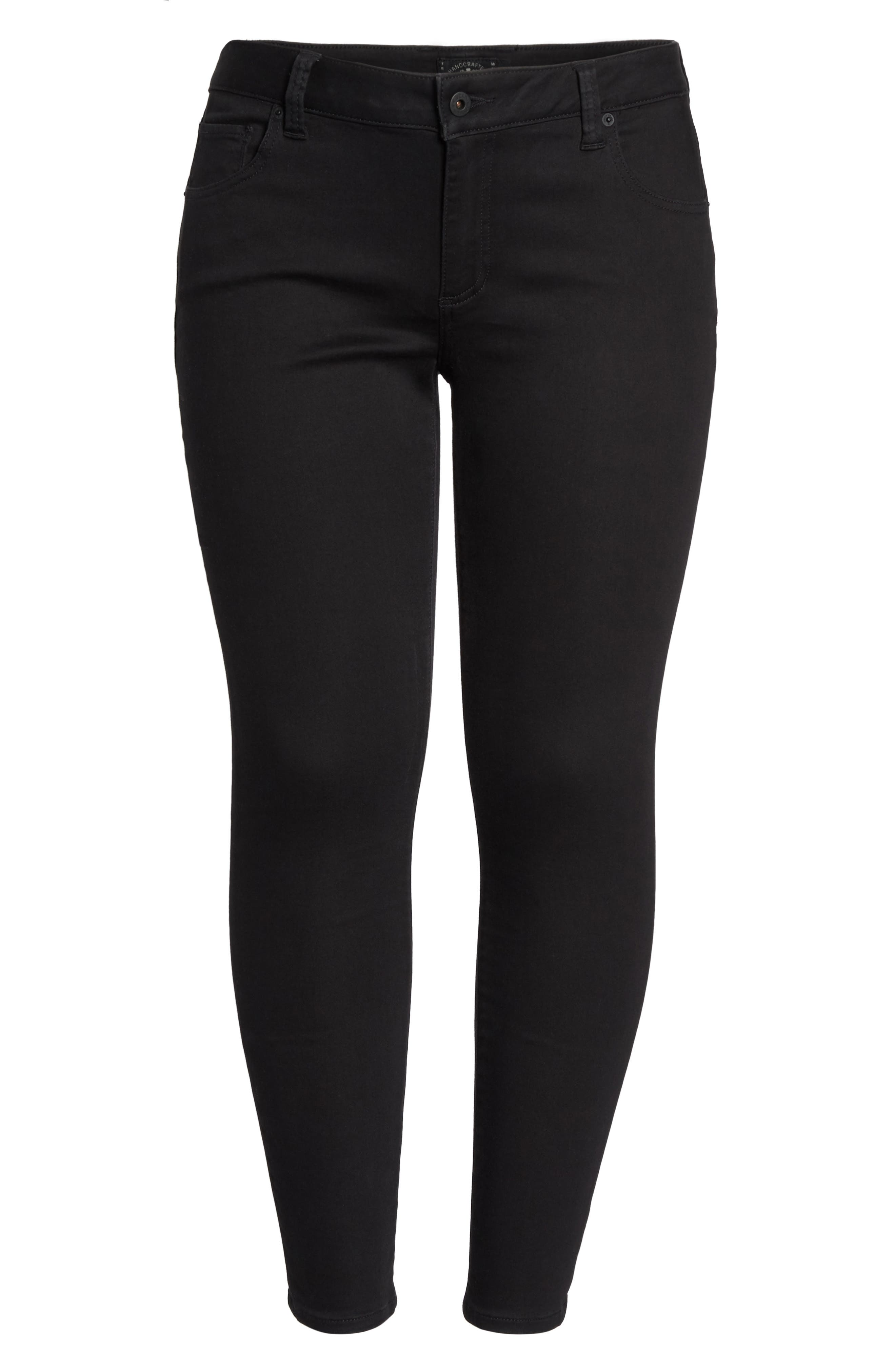 Alternate Image 6  - Lucky Brand Ginger Skinny Jeans (Bell) (Plus Size)