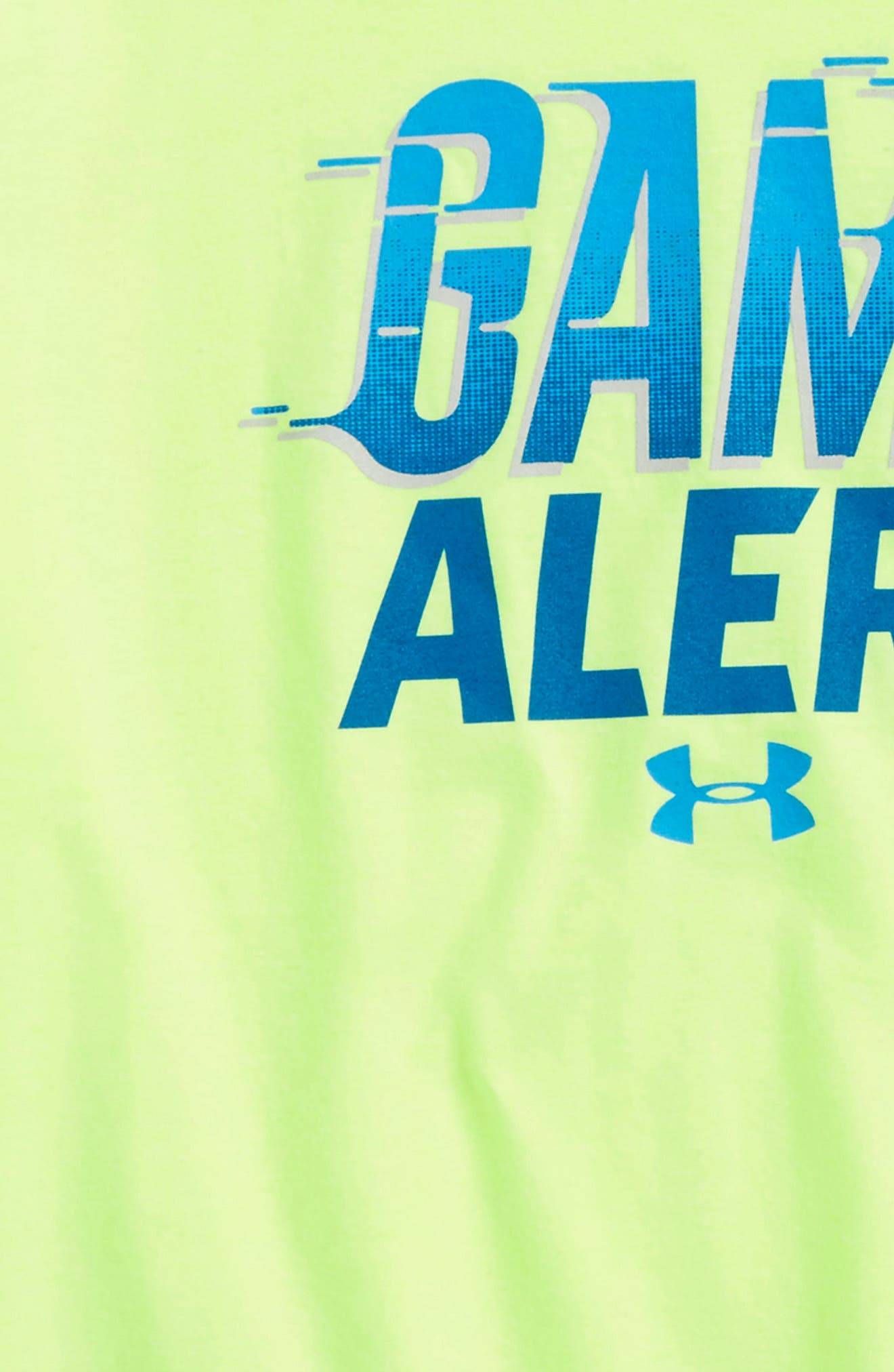Game Alert Graphic T-Shirt,                             Alternate thumbnail 2, color,                             Quirky Lime Light Heather