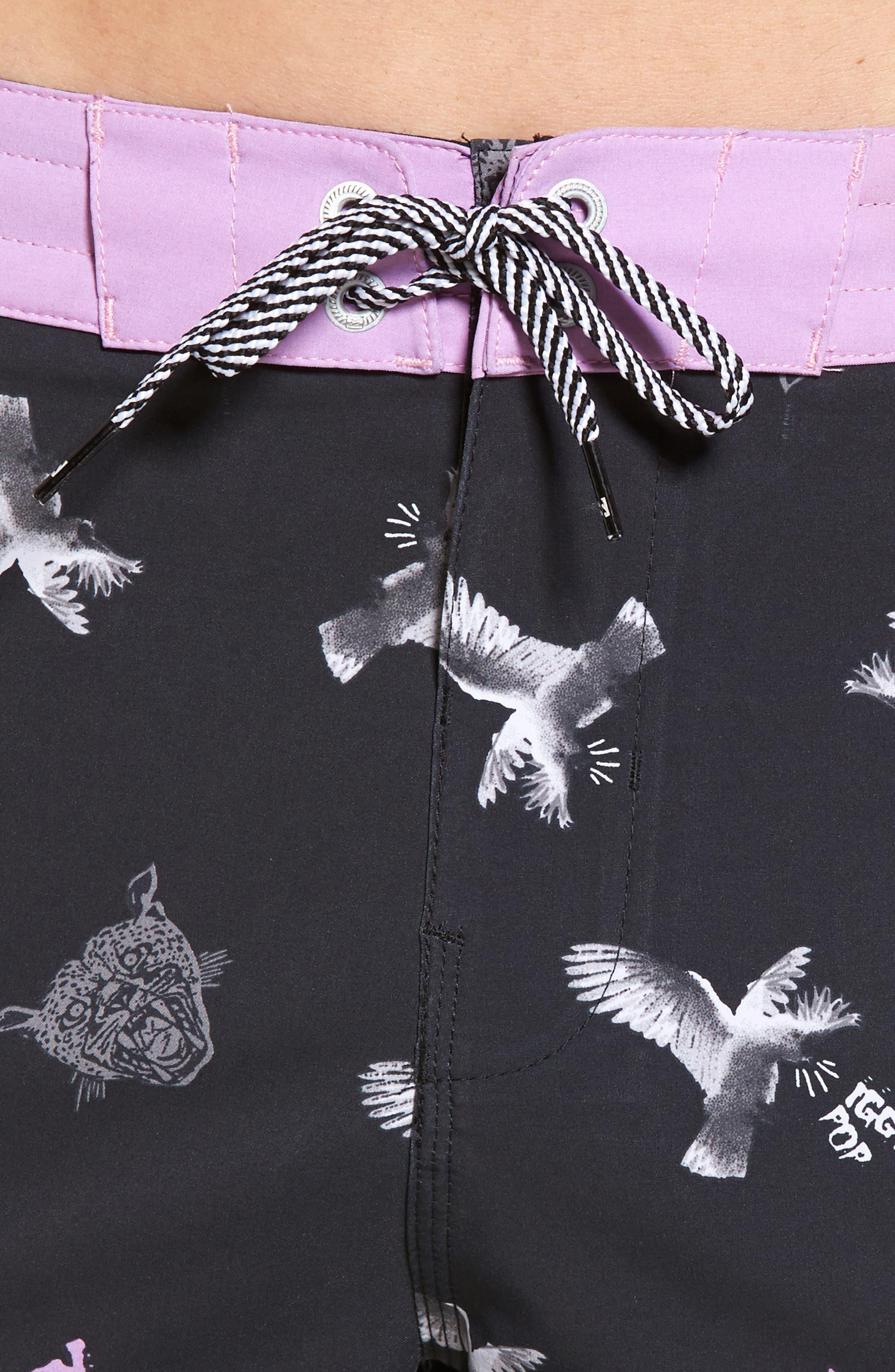 x Iggy Pop Sundays LT Board Shorts,                             Alternate thumbnail 4, color,                             Black