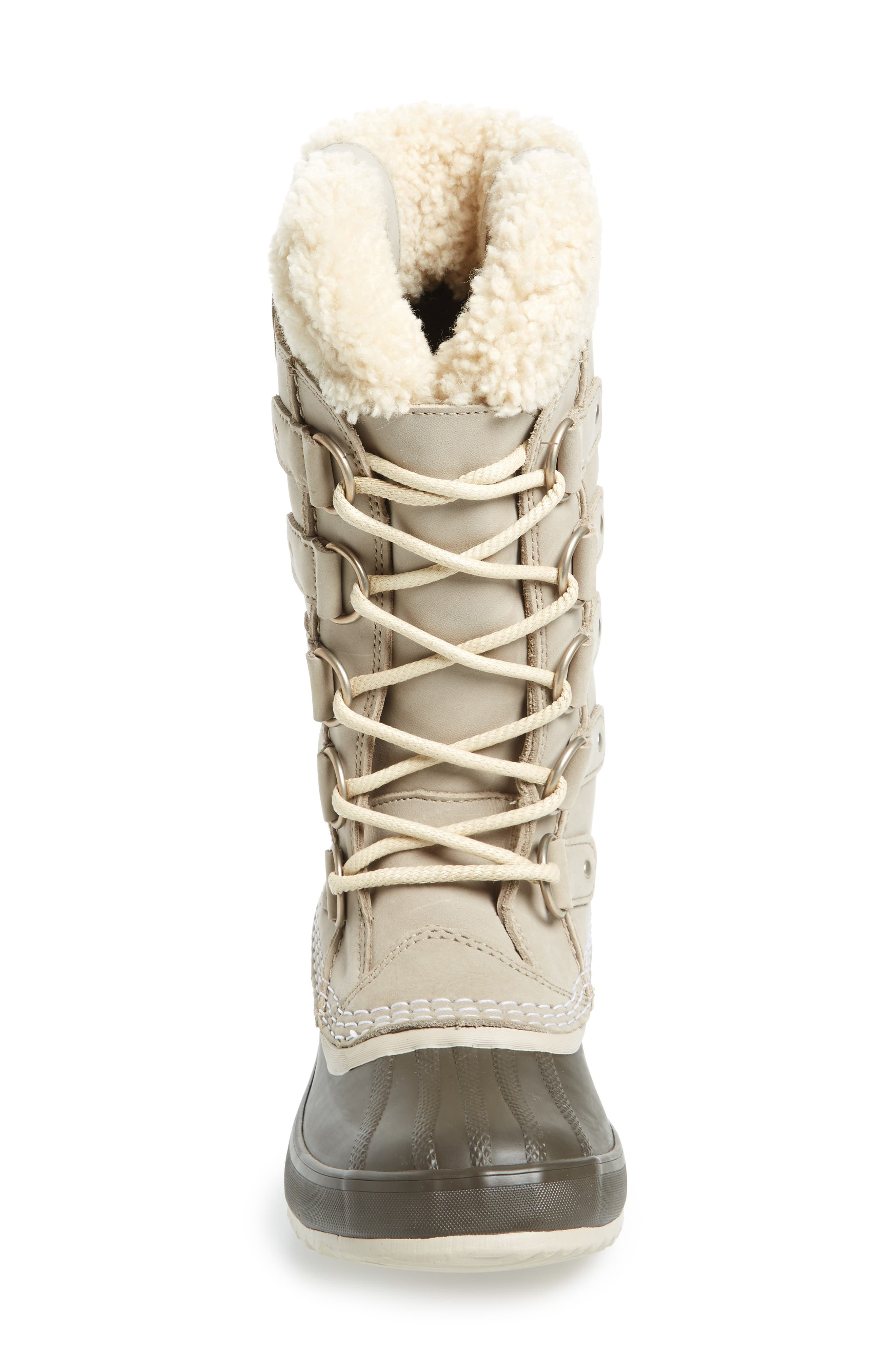 Joan of Arctic<sup>™</sup> Lux Waterproof Winter Boot with Genuine  Shearling Cuff,                             Alternate thumbnail 4, color,                             Ancient Fossil/ Mud