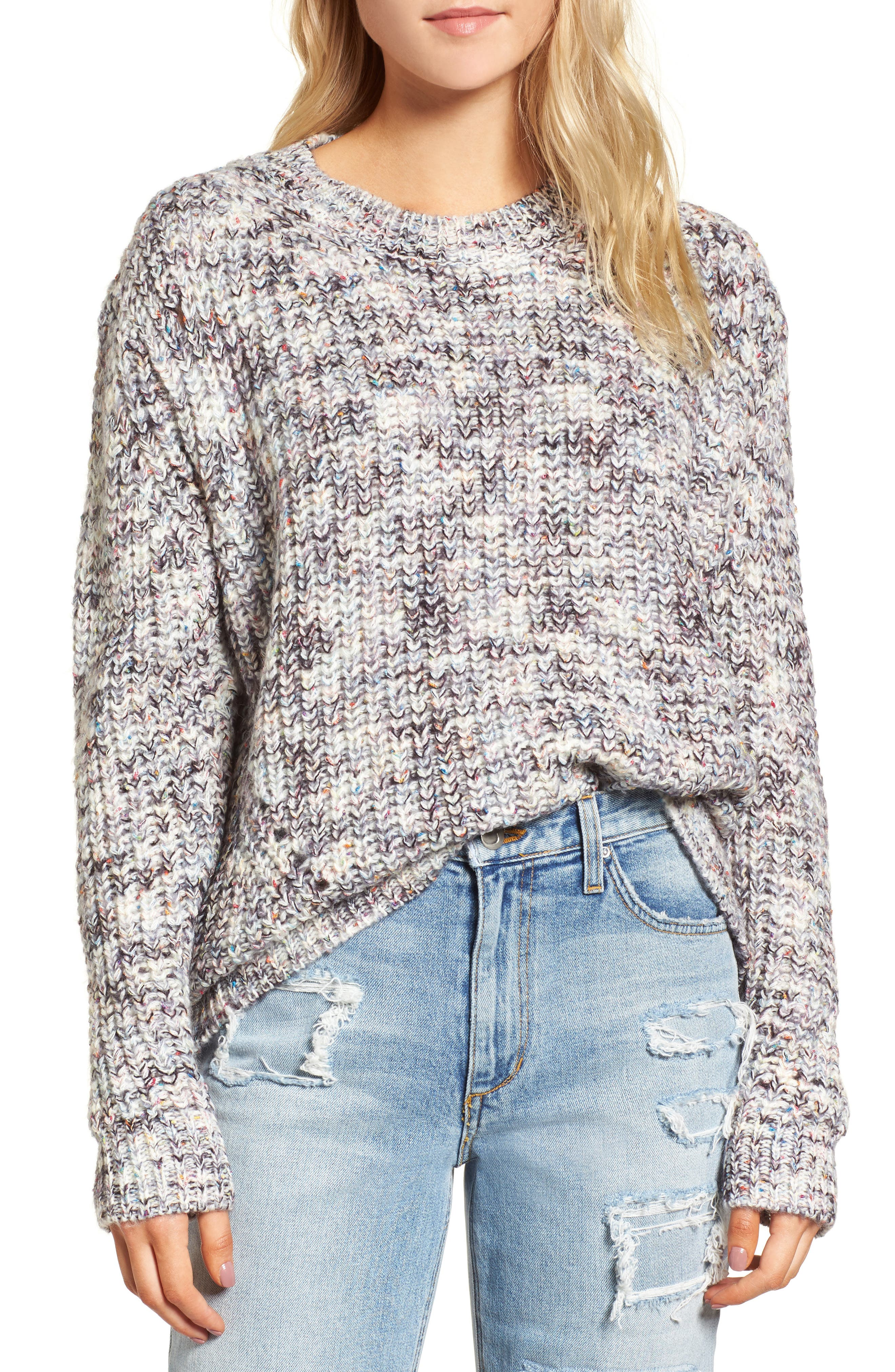 Lux Sweater,                         Main,                         color, Kaleidoscope