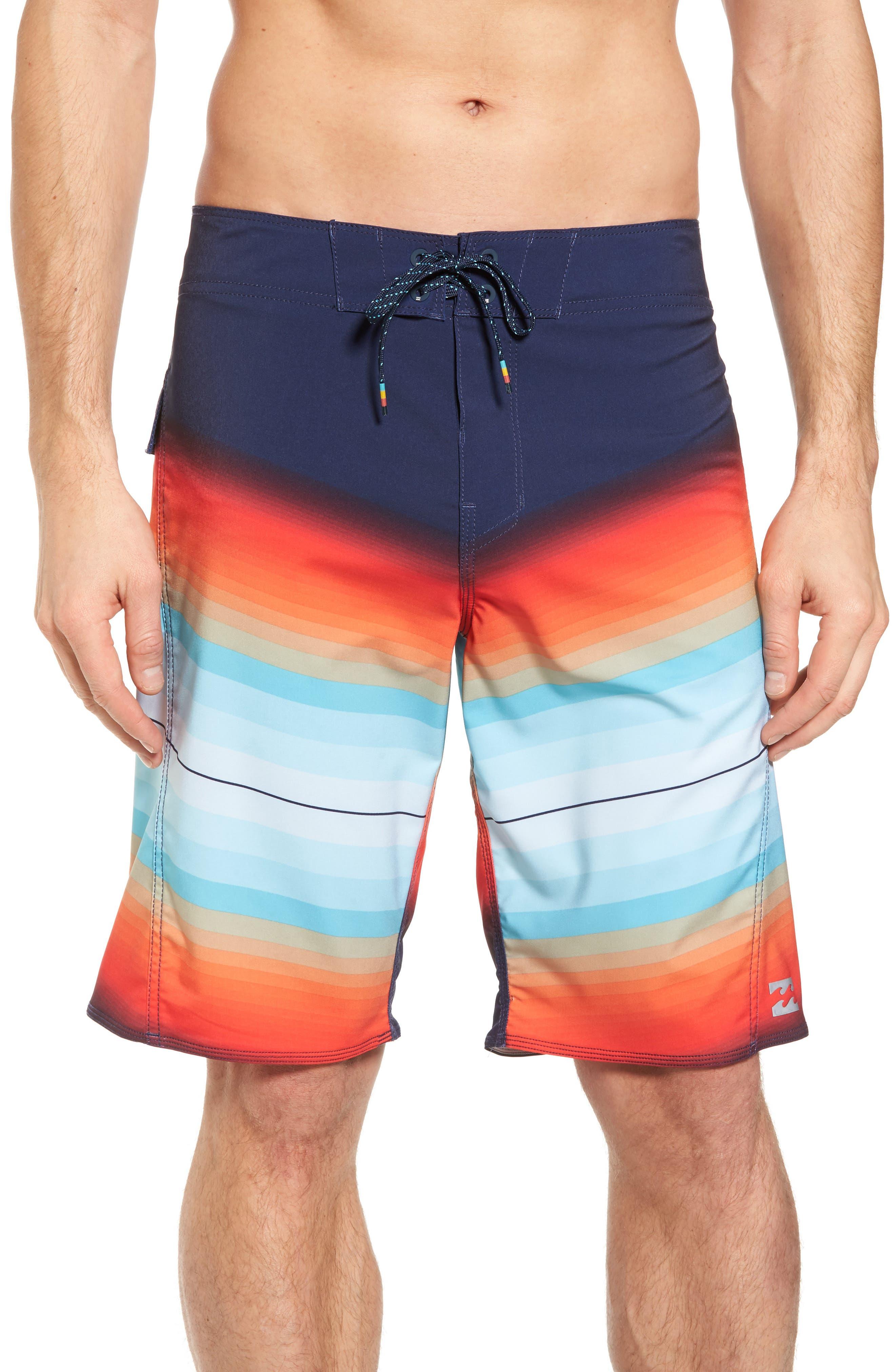 Fluid X Board Shorts,                             Main thumbnail 1, color,                             Orange