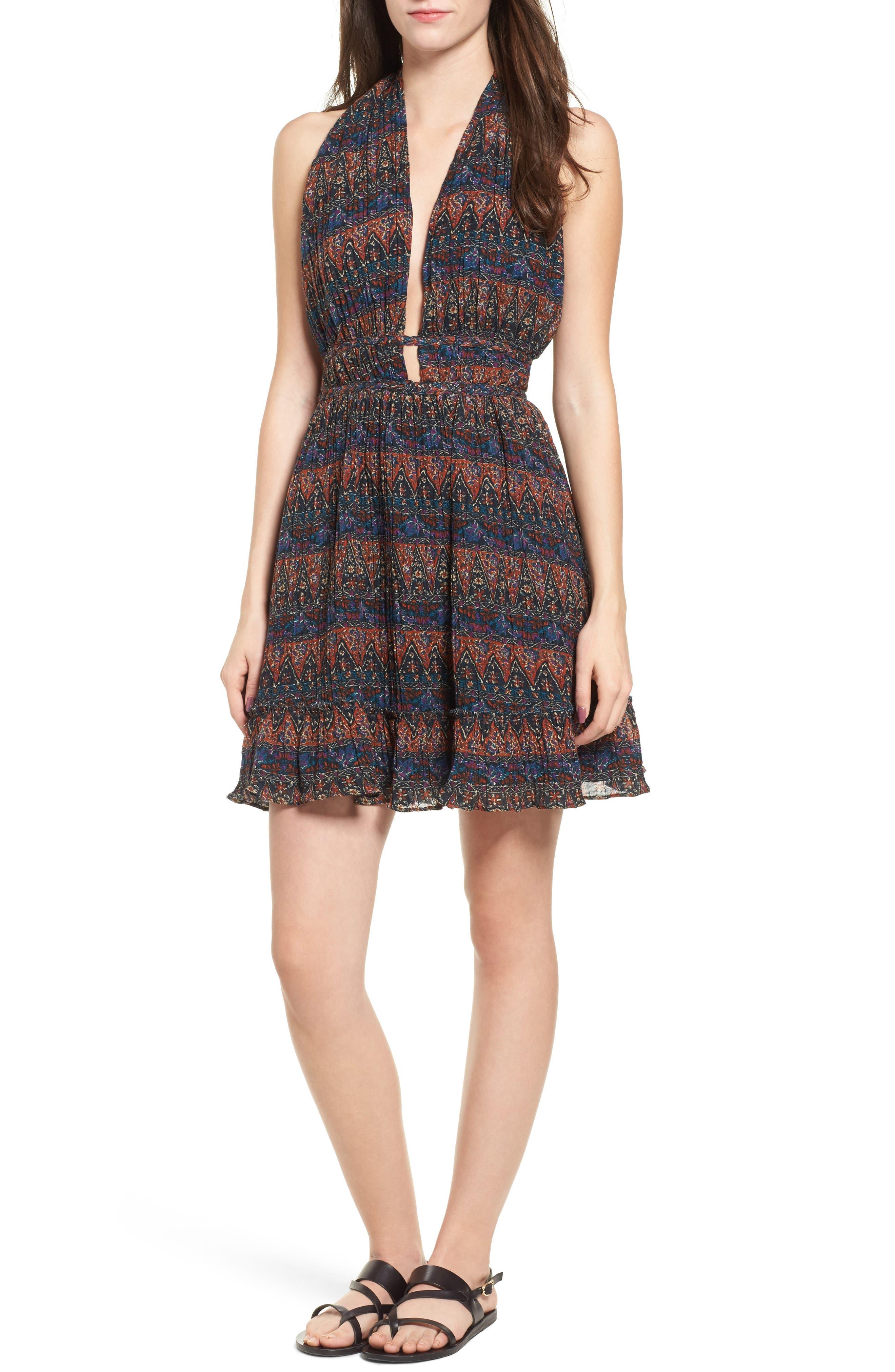 Bali Halter Dress,                             Main thumbnail 1, color,                             Dark Multi