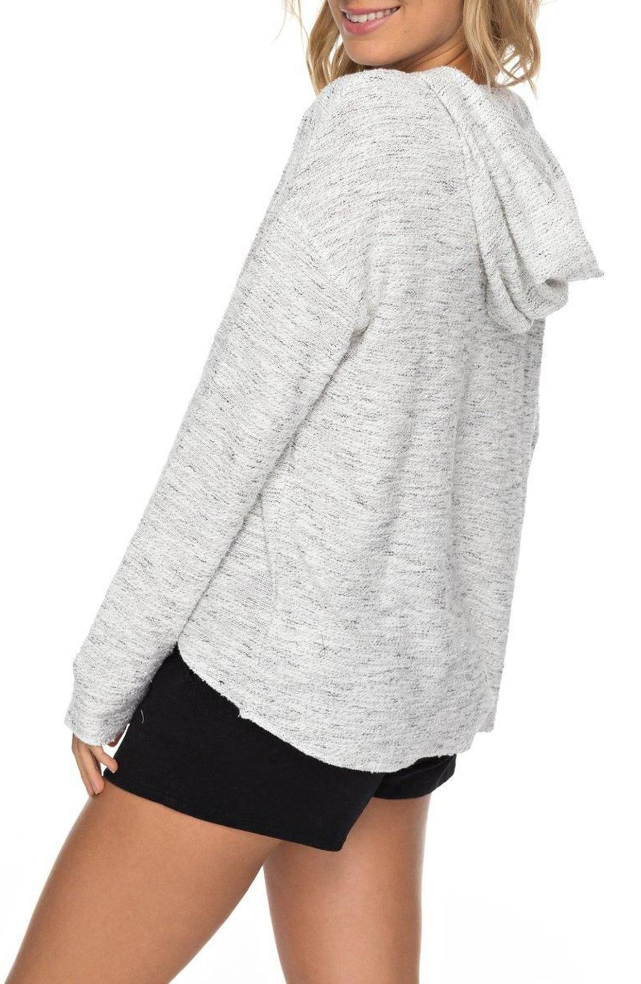 Crazy Waves Keyhole Hoodie,                             Alternate thumbnail 2, color,                             Marshmallow