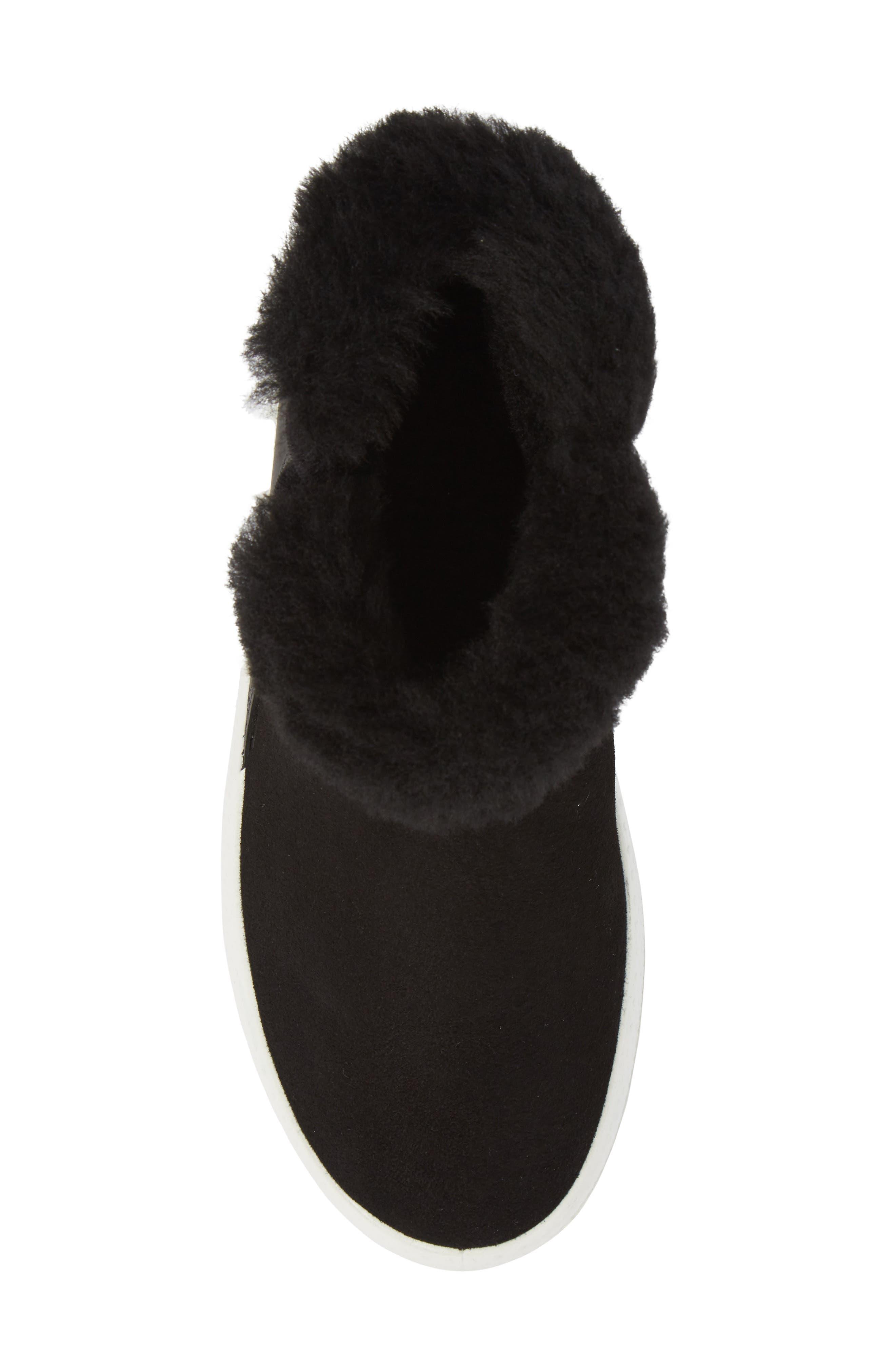 Ukiuk Genuine Shearling Boot,                             Alternate thumbnail 5, color,                             Black Leather