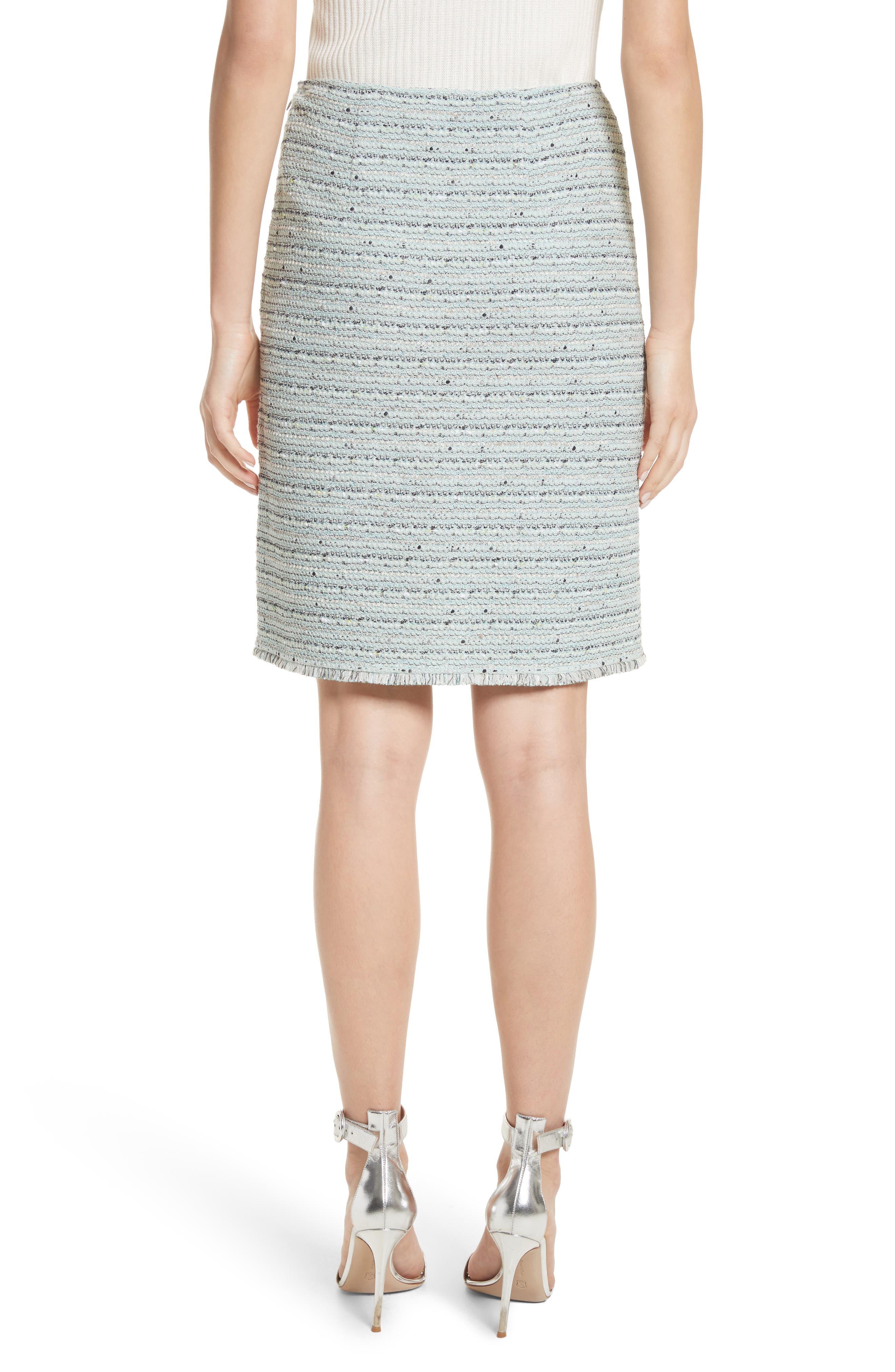 Riana Tweed Pencil Skirt,                             Alternate thumbnail 2, color,                             Mint Multi