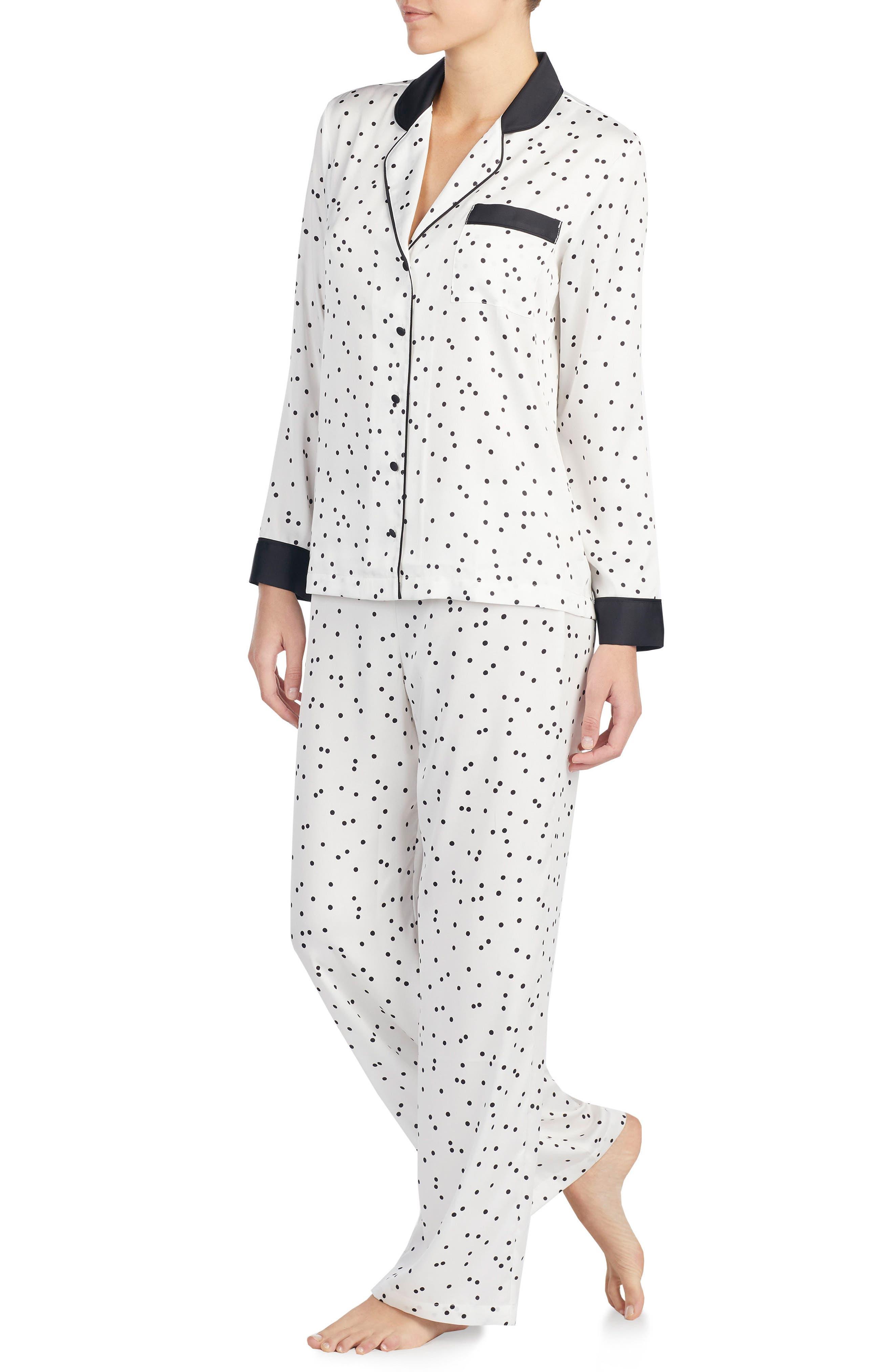 Alternate Image 3  - kate spade new york print charmeuse pajamas