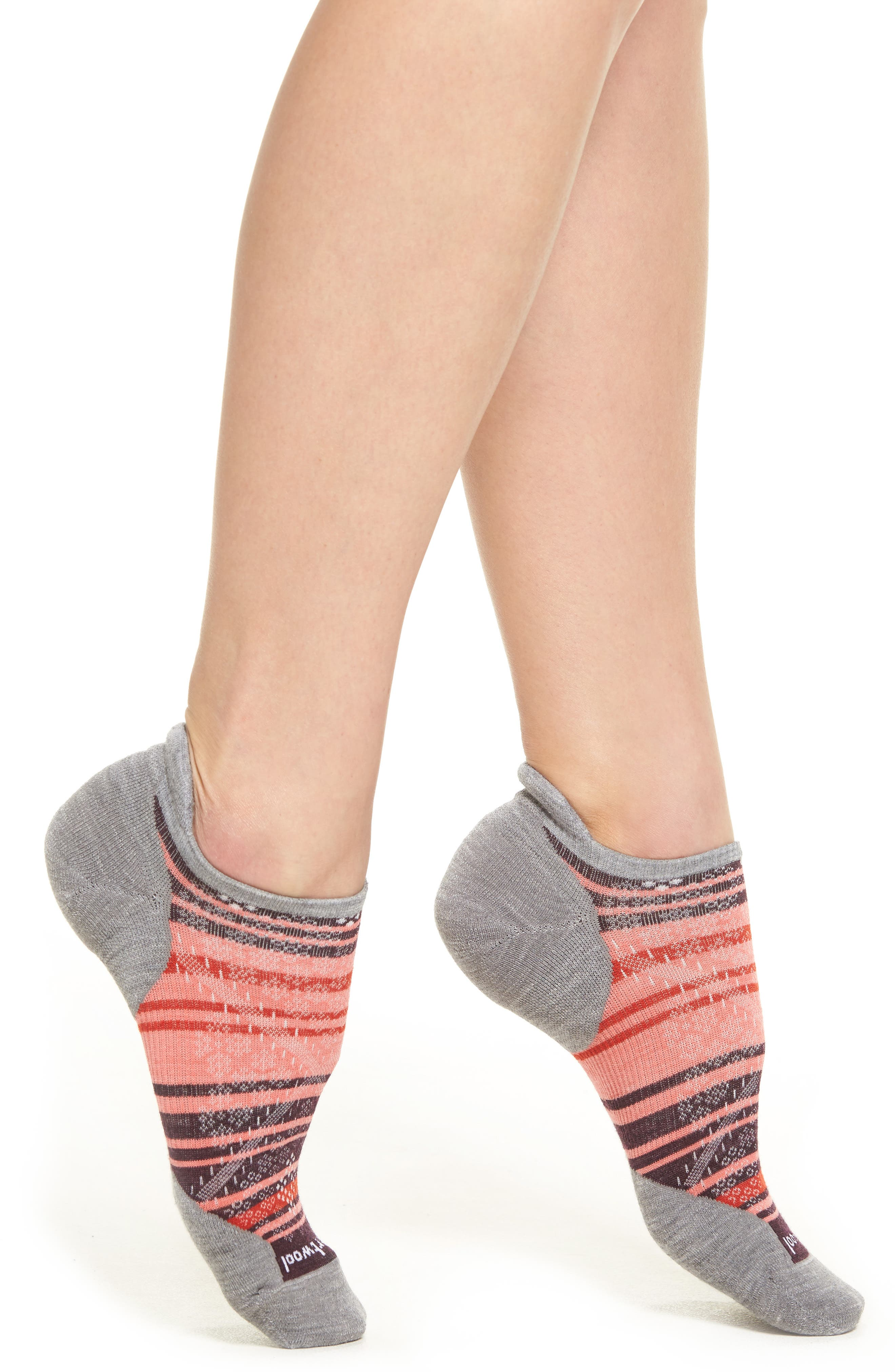 PhD Run Elite Micro No-Show Socks,                             Main thumbnail 1, color,                             Light Gray