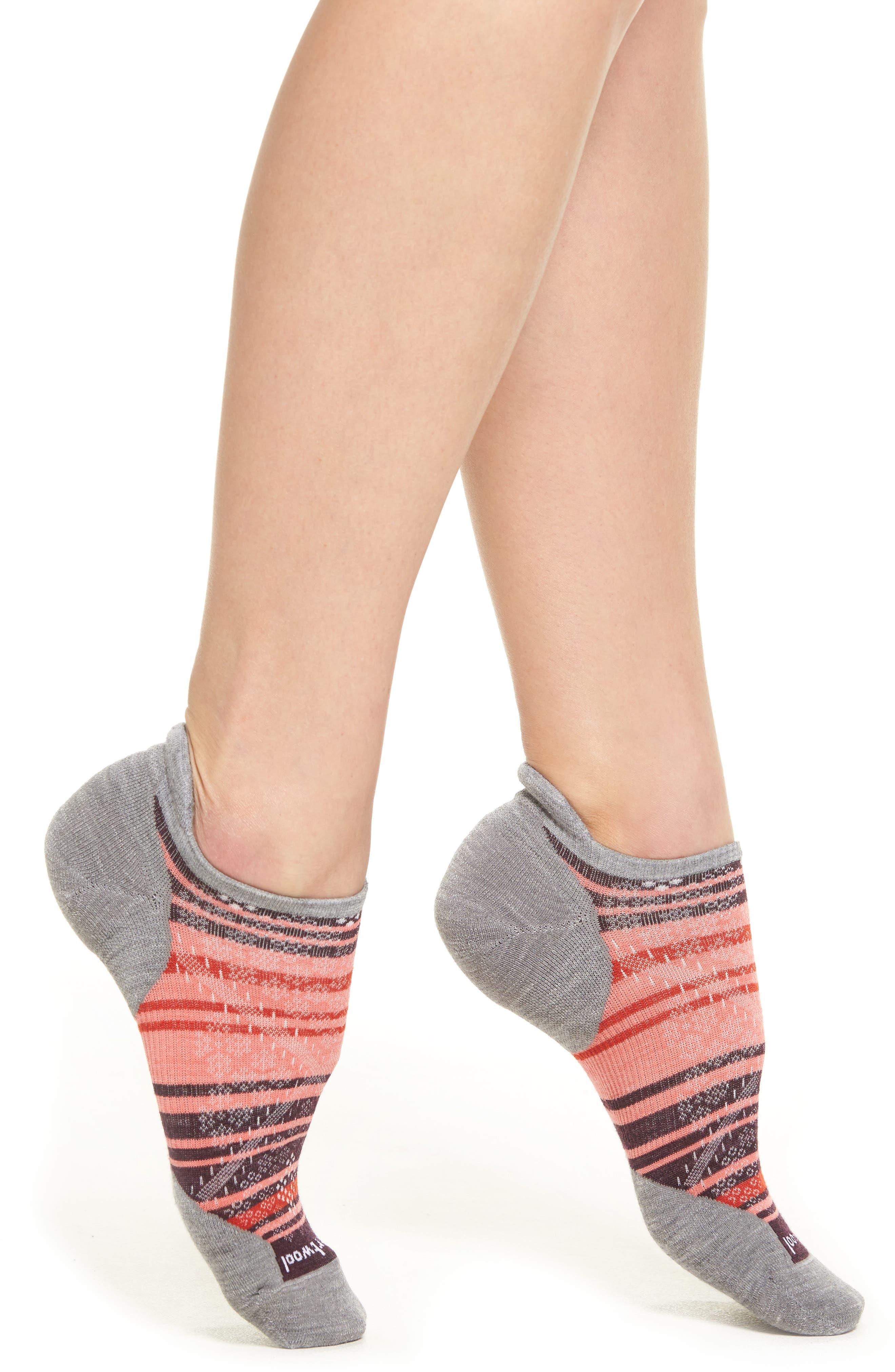 PhD Run Elite Micro No-Show Socks,                         Main,                         color, Light Gray