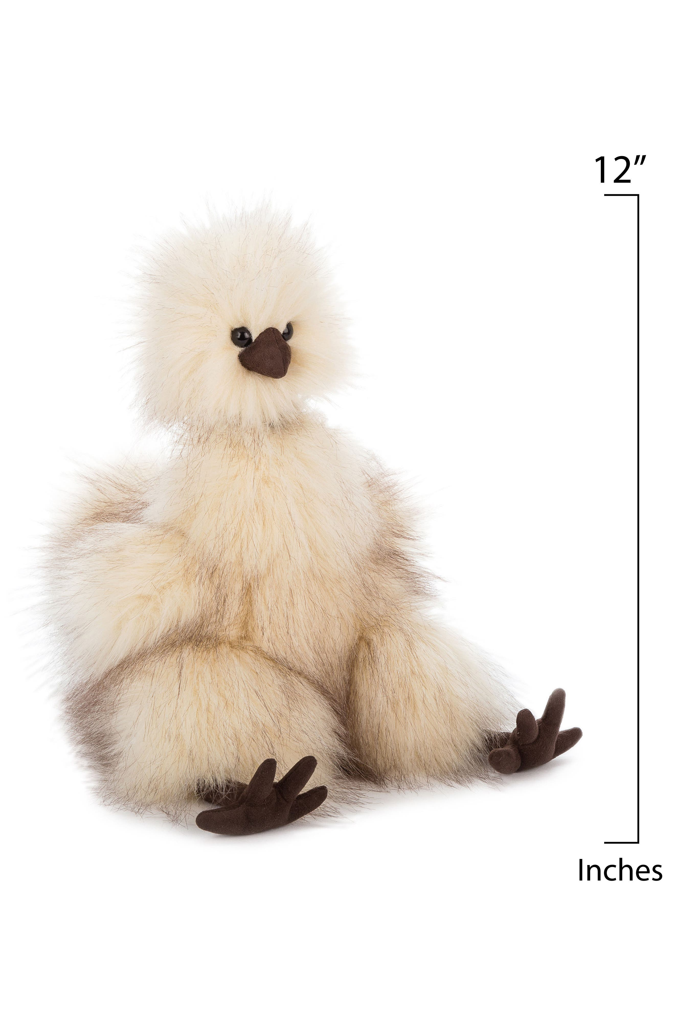 Silkie Chicken Stuffed Toy,                             Alternate thumbnail 2, color,                             Cream