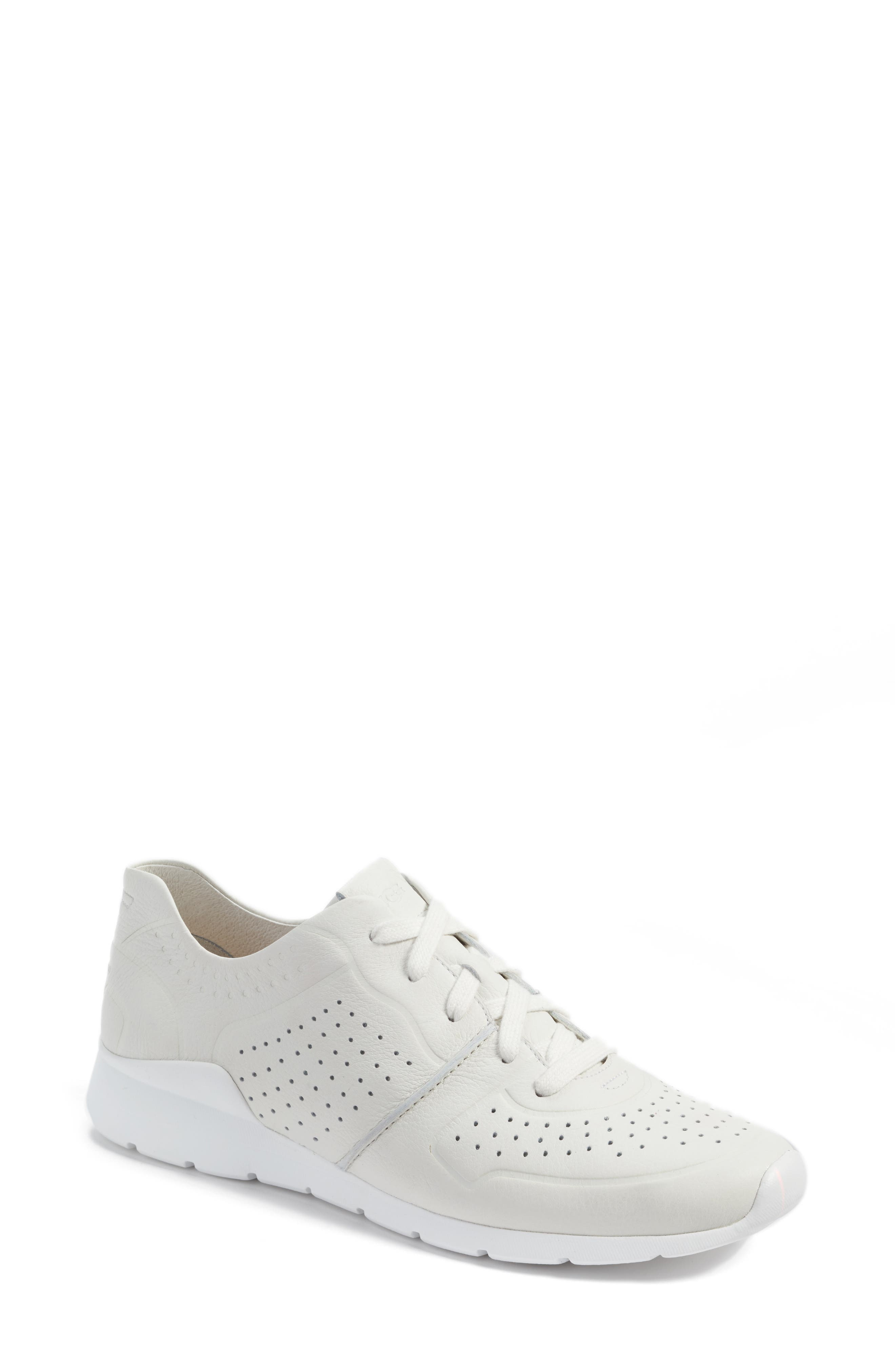 Tye Sneaker,                         Main,                         color, White Leather
