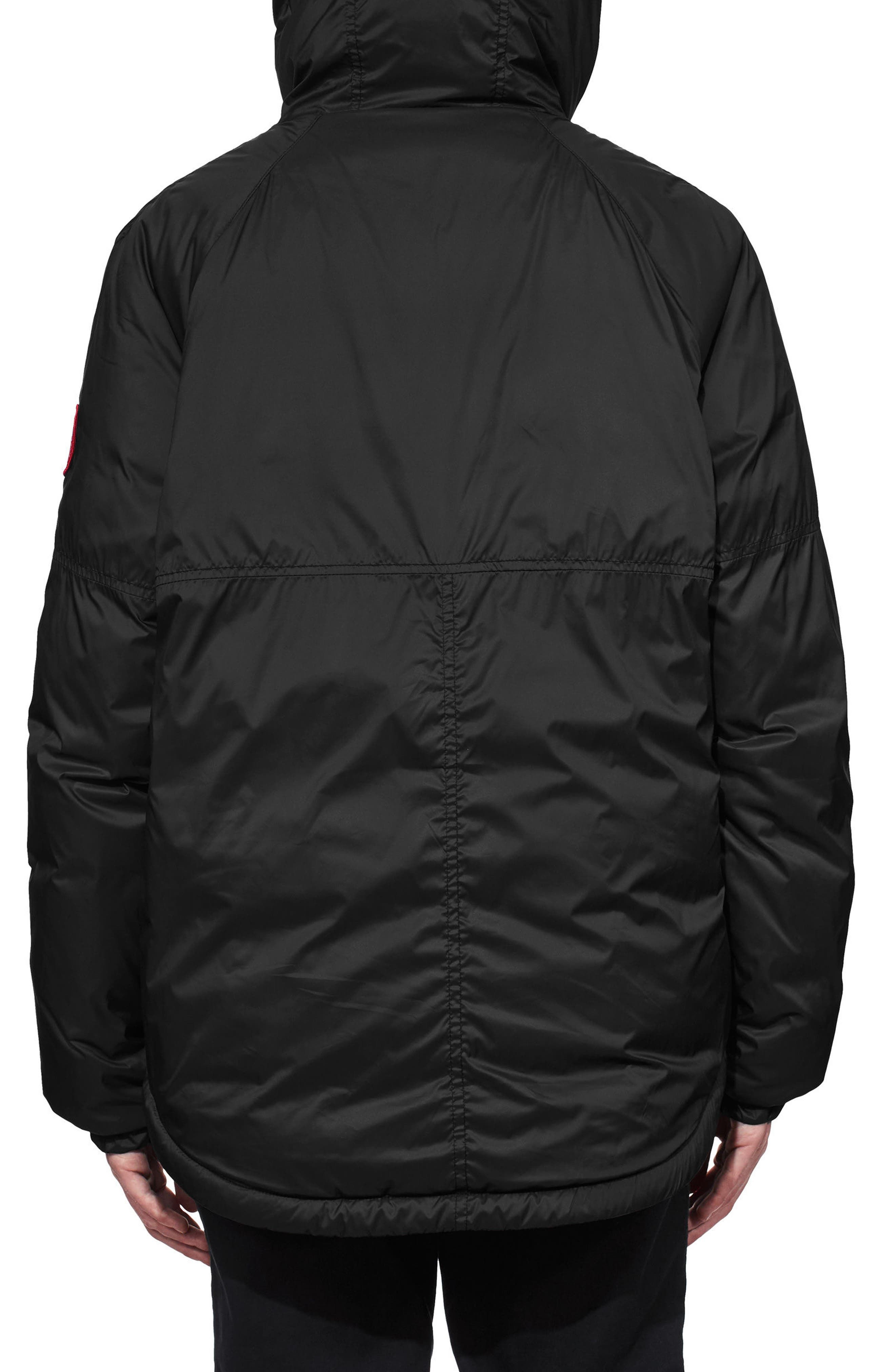 Campden Water Resistant Hooded Down Jacket,                             Alternate thumbnail 2, color,                             Black