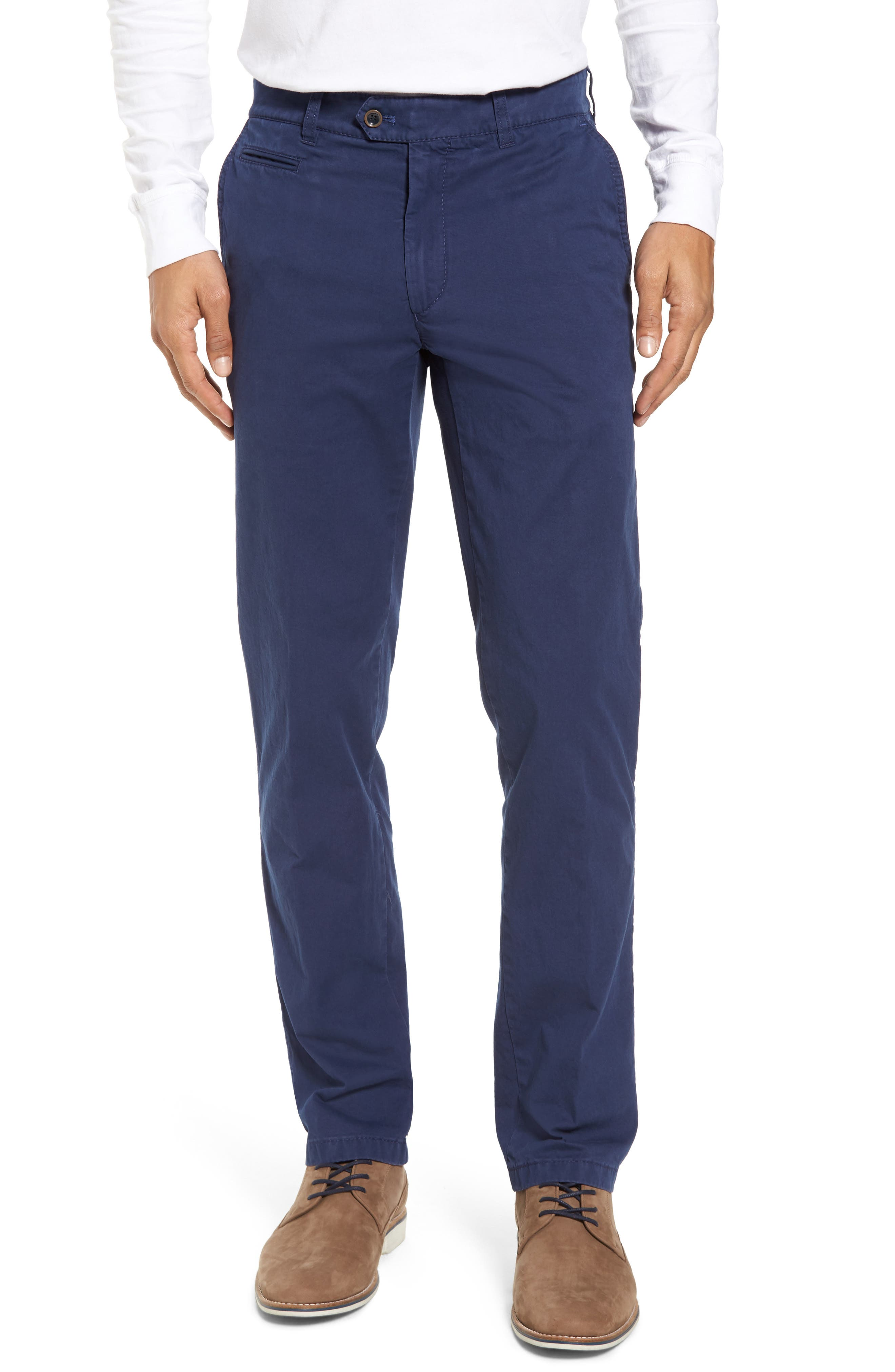 Everest Flat Front Chinos,                         Main,                         color, Pacific