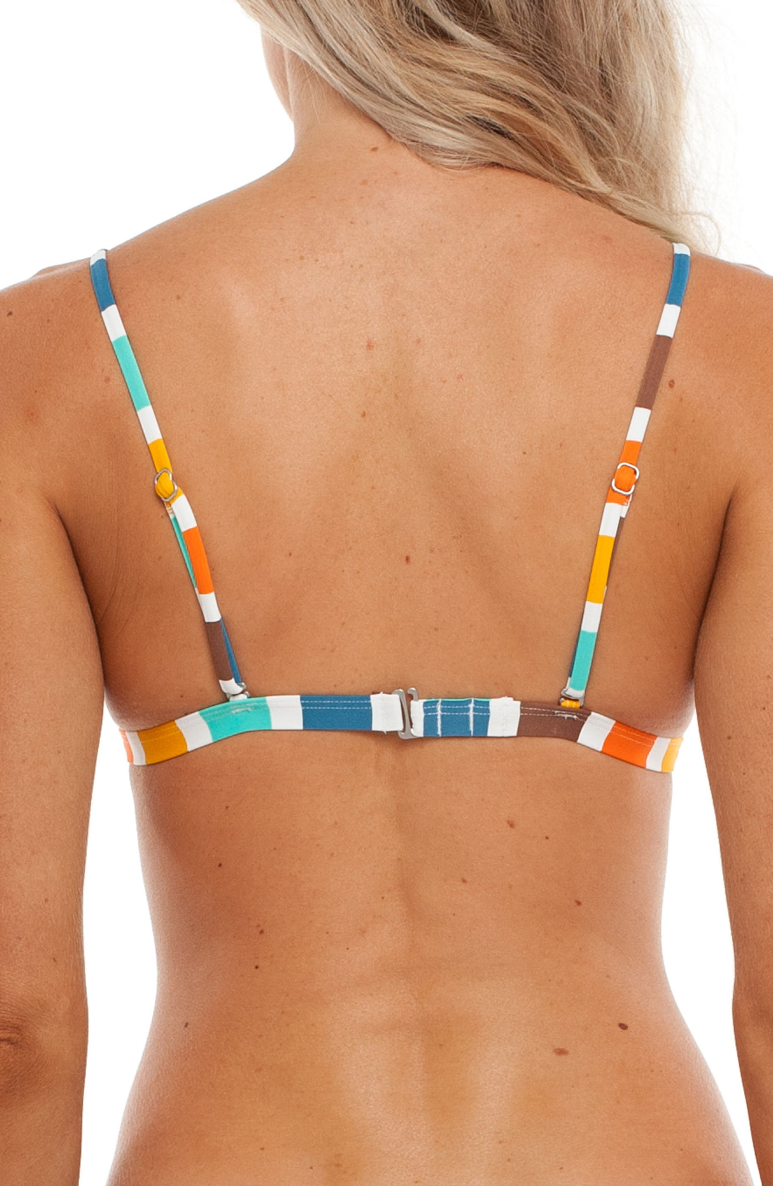 Zimbabwe Bralette Bikini Top,                             Alternate thumbnail 2, color,                             Tangelo Multi