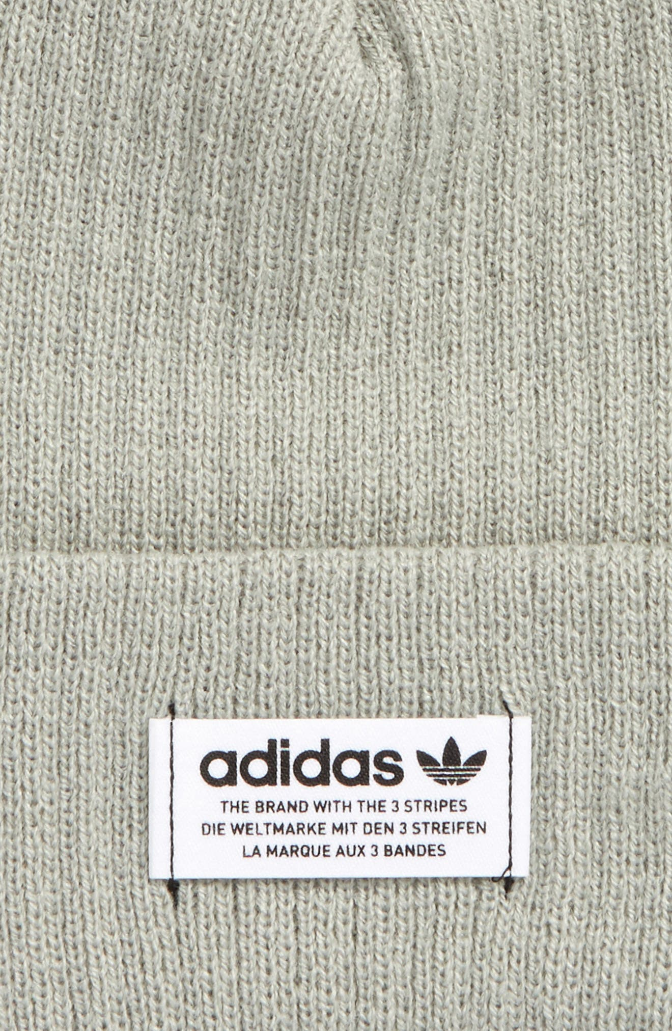 Wide Rib Knit Beanie,                             Alternate thumbnail 2, color,                             Light Green