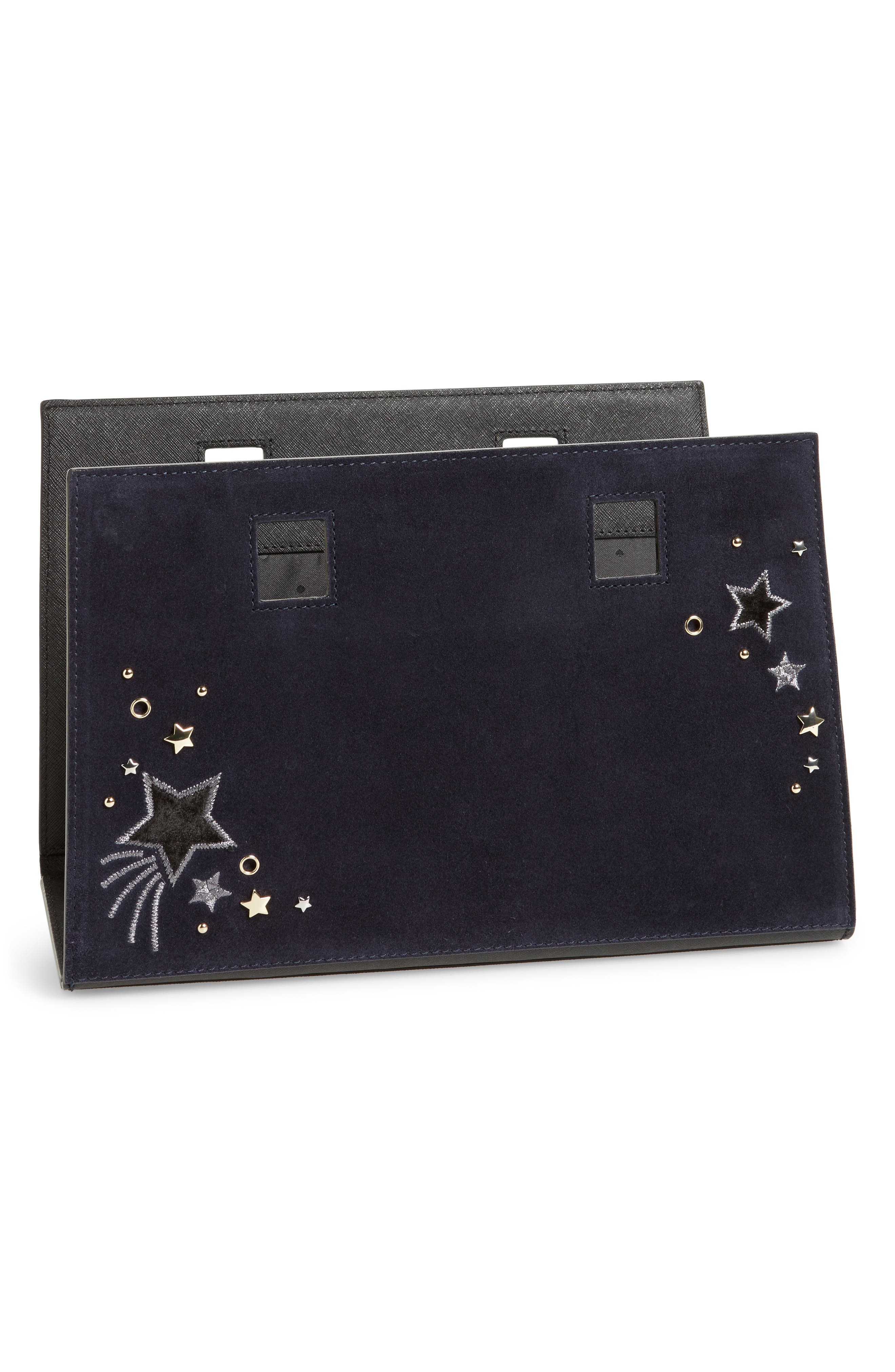 kate spade new york make it mine star embellished leather snap-on accent flap