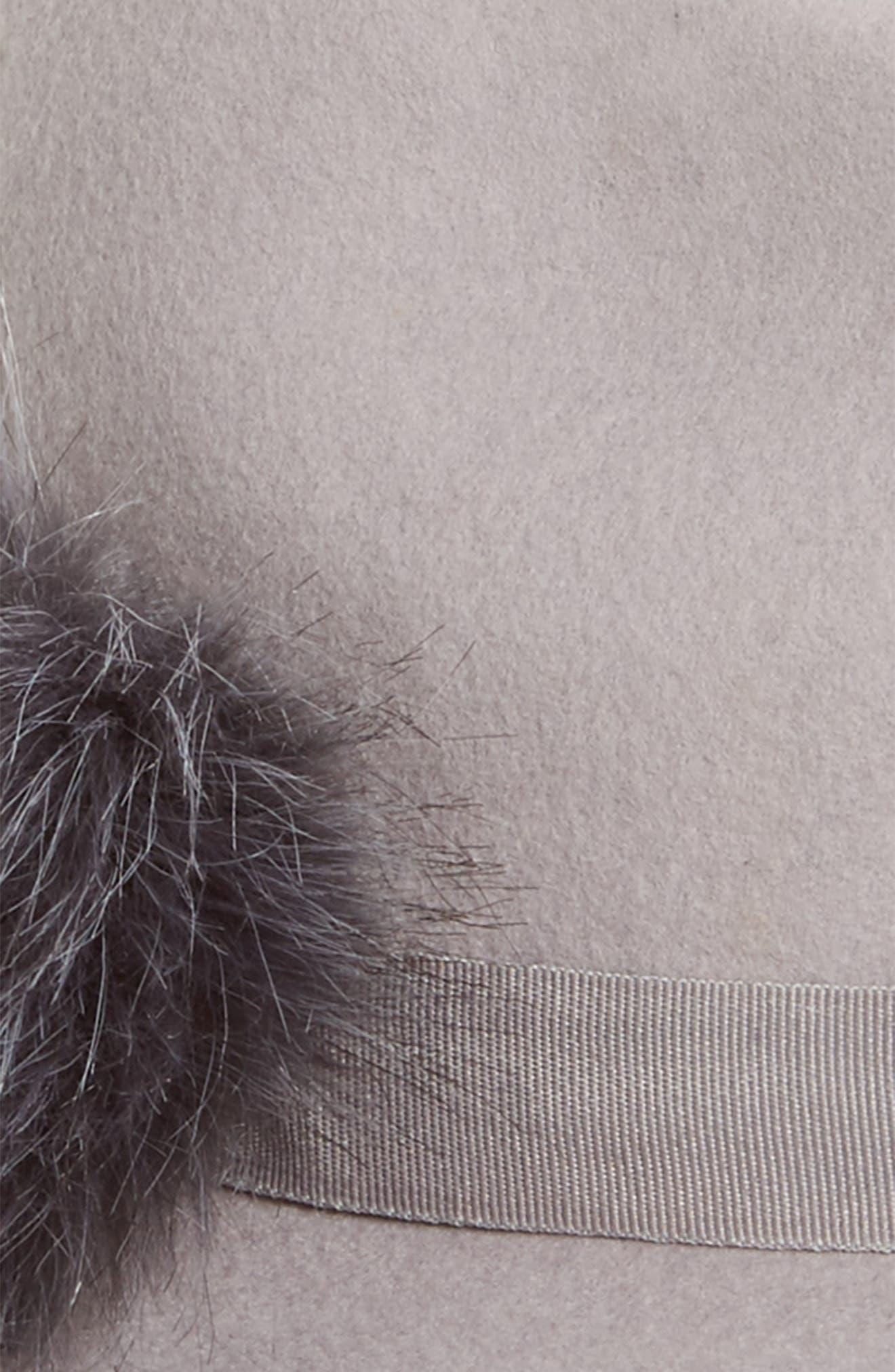 Alternate Image 2  - BP. Faux Fur Pompom Fedora