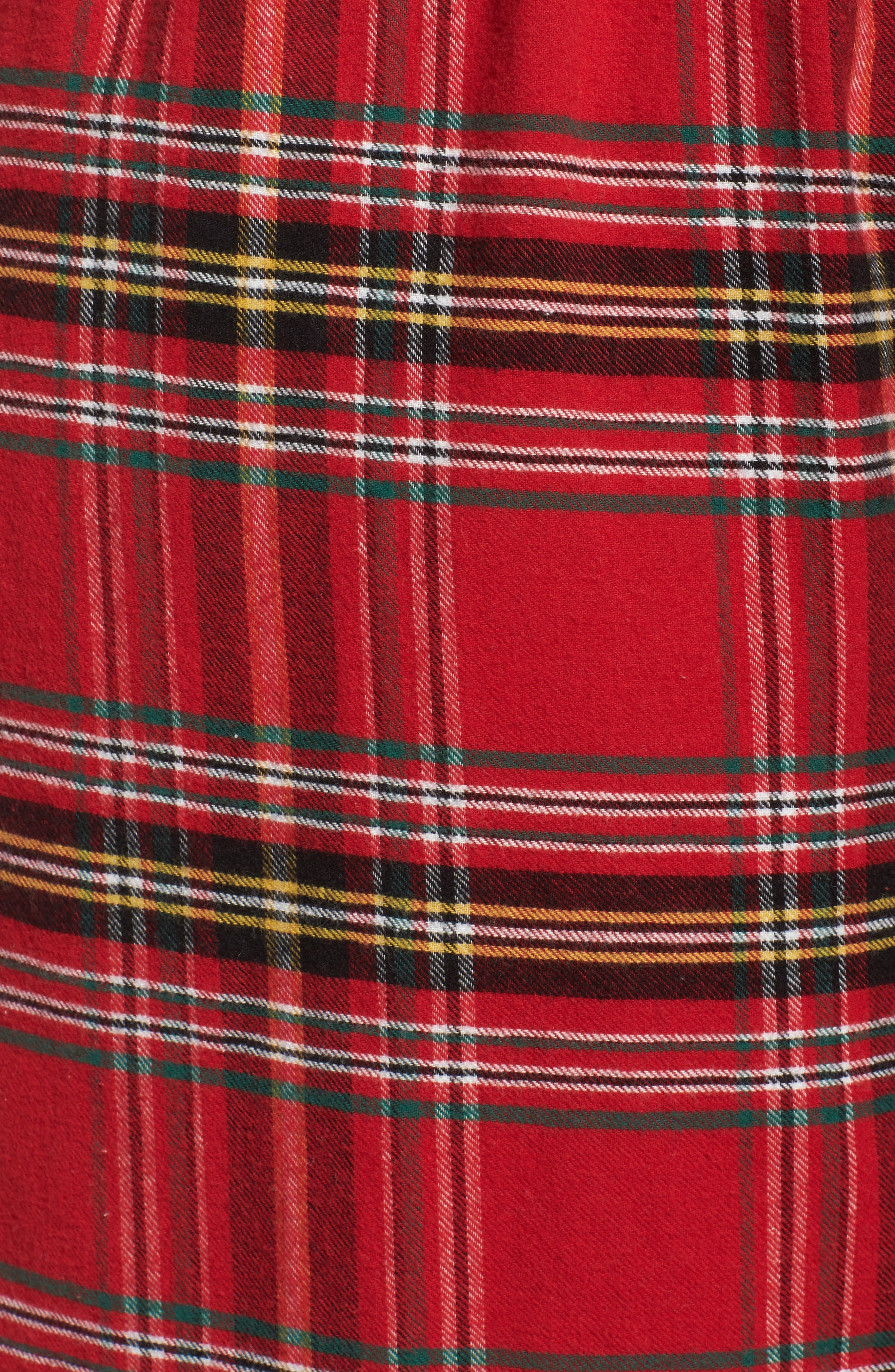 Plaid Flannel Pajama Pants,                             Alternate thumbnail 7, color,                             Brick