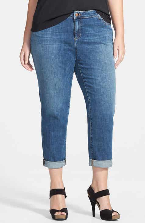 c2cf80670cef1 Eileen Fisher Boyfriend Jeans (Aged Indigo) (Plus Size)