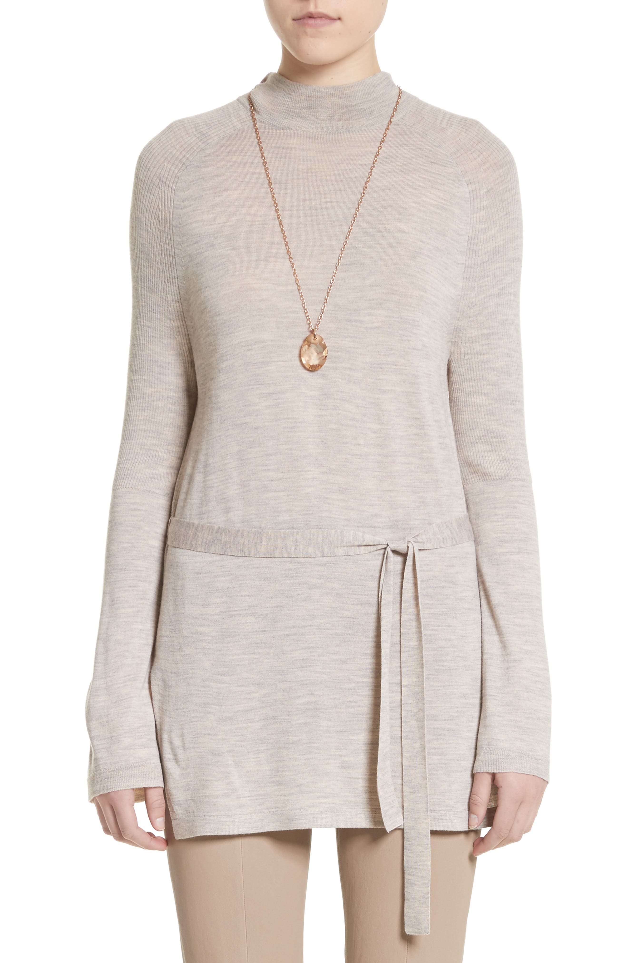 Main Image - St. John Collection Wool Belted Tunic