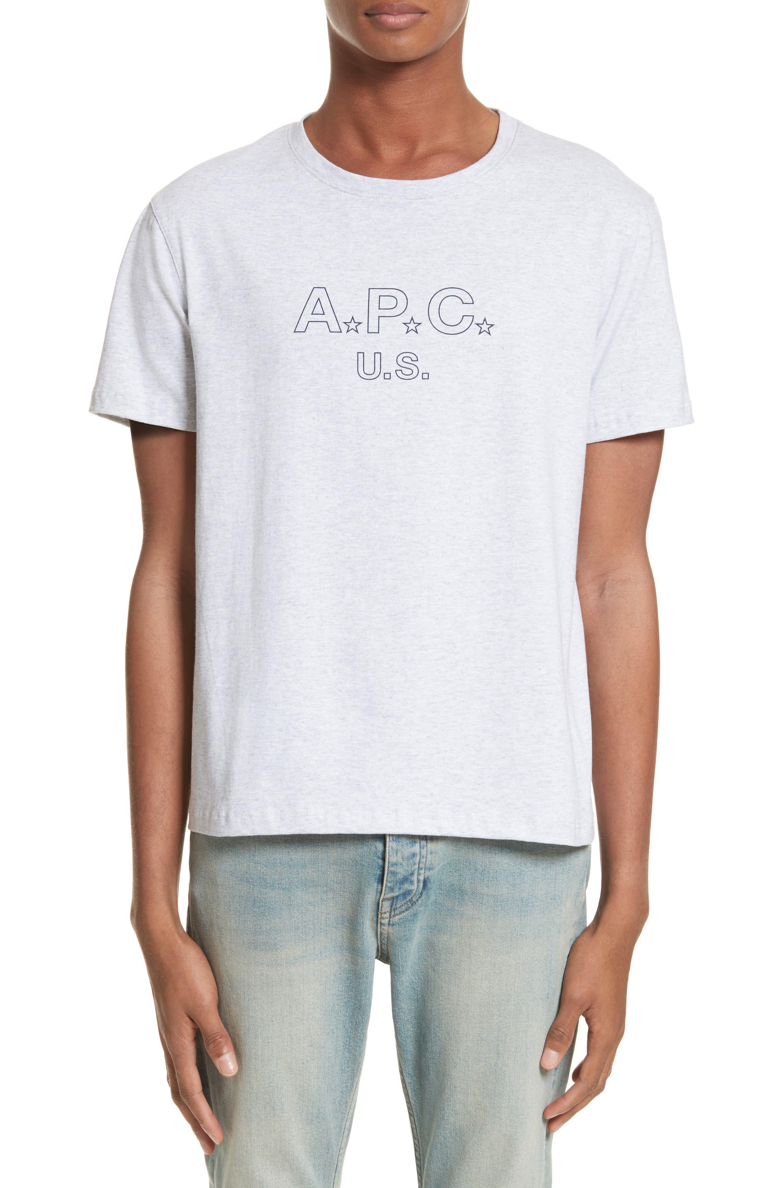 U.S Logo T-Shirt,                         Main,                         color, Gris Chine Pla