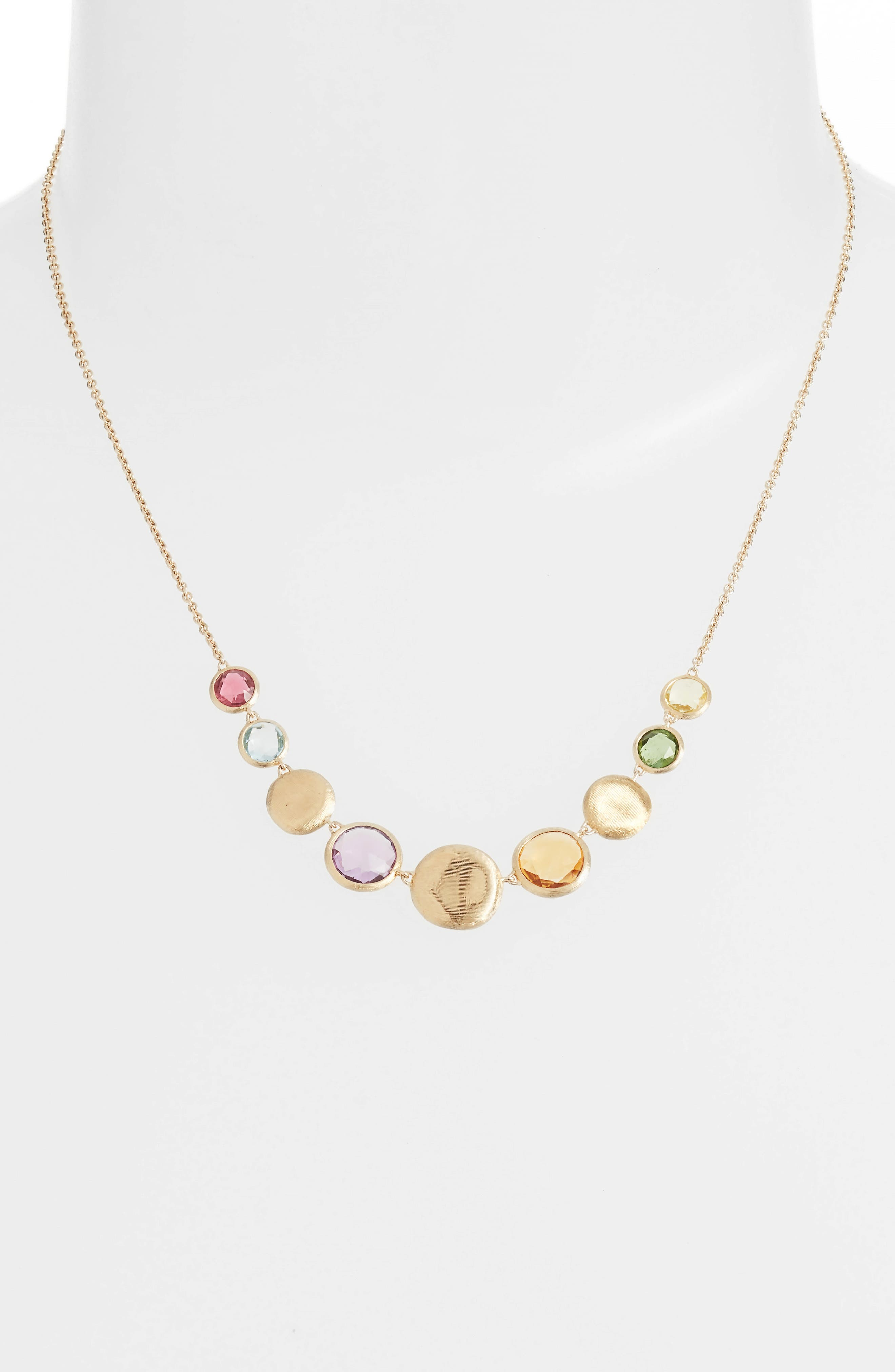 Jaipur Semiprecious Stone Collar Necklace,                             Alternate thumbnail 2, color,                             Yellow Gold