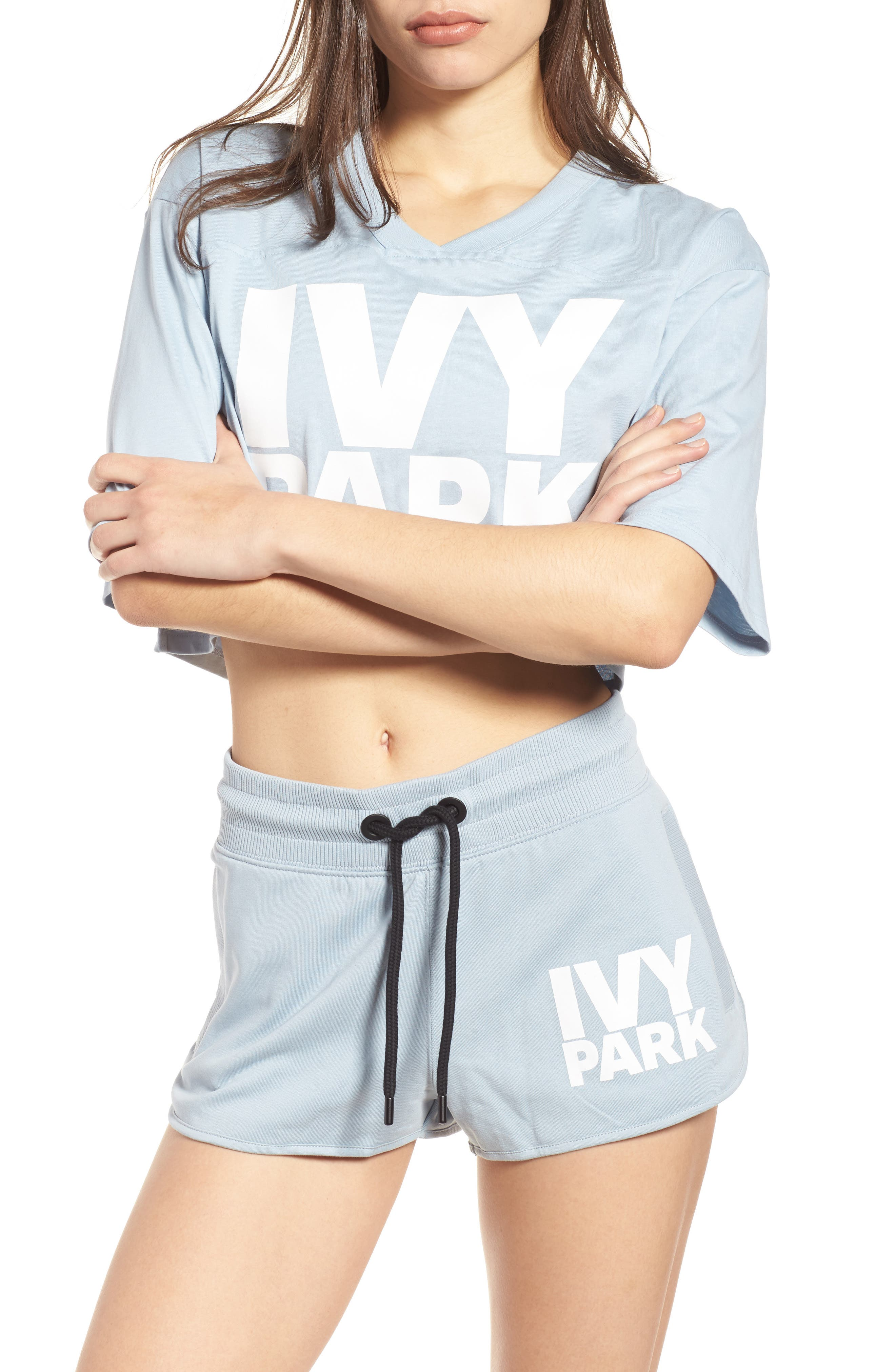 Alternate Image 1 Selected - IVY PARK® Logo Crop Tee