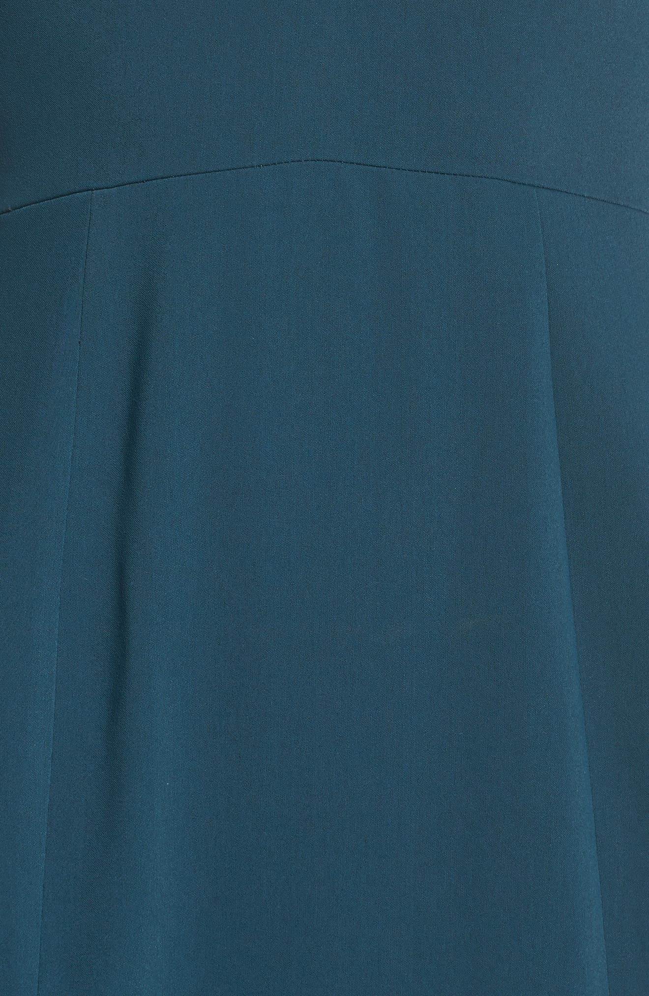 Temptation Asymmetrical Gown,                             Alternate thumbnail 6, color,                             Emerald