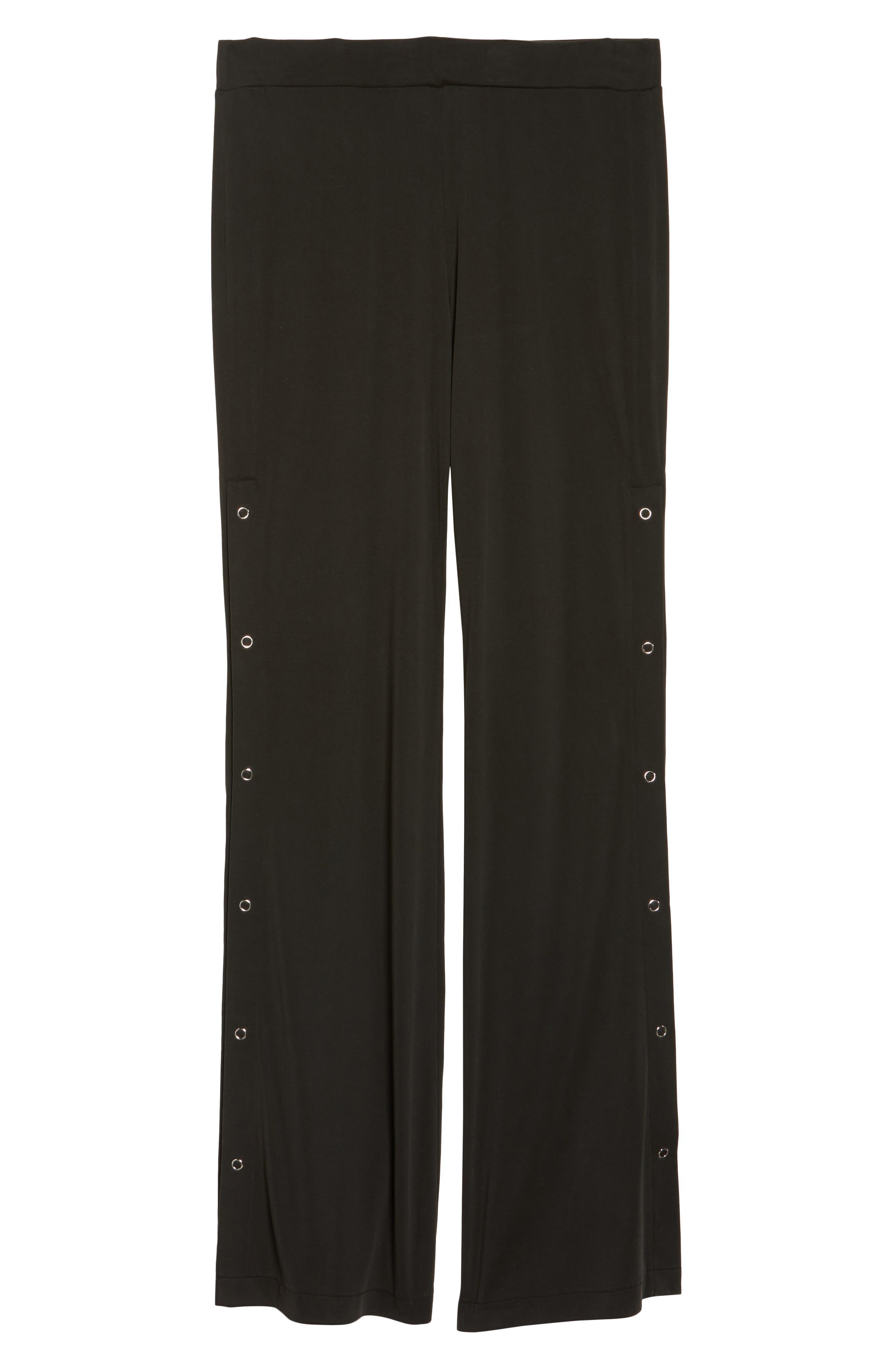 Higgens Side Snap Lounge Pants,                             Alternate thumbnail 4, color,                             Black