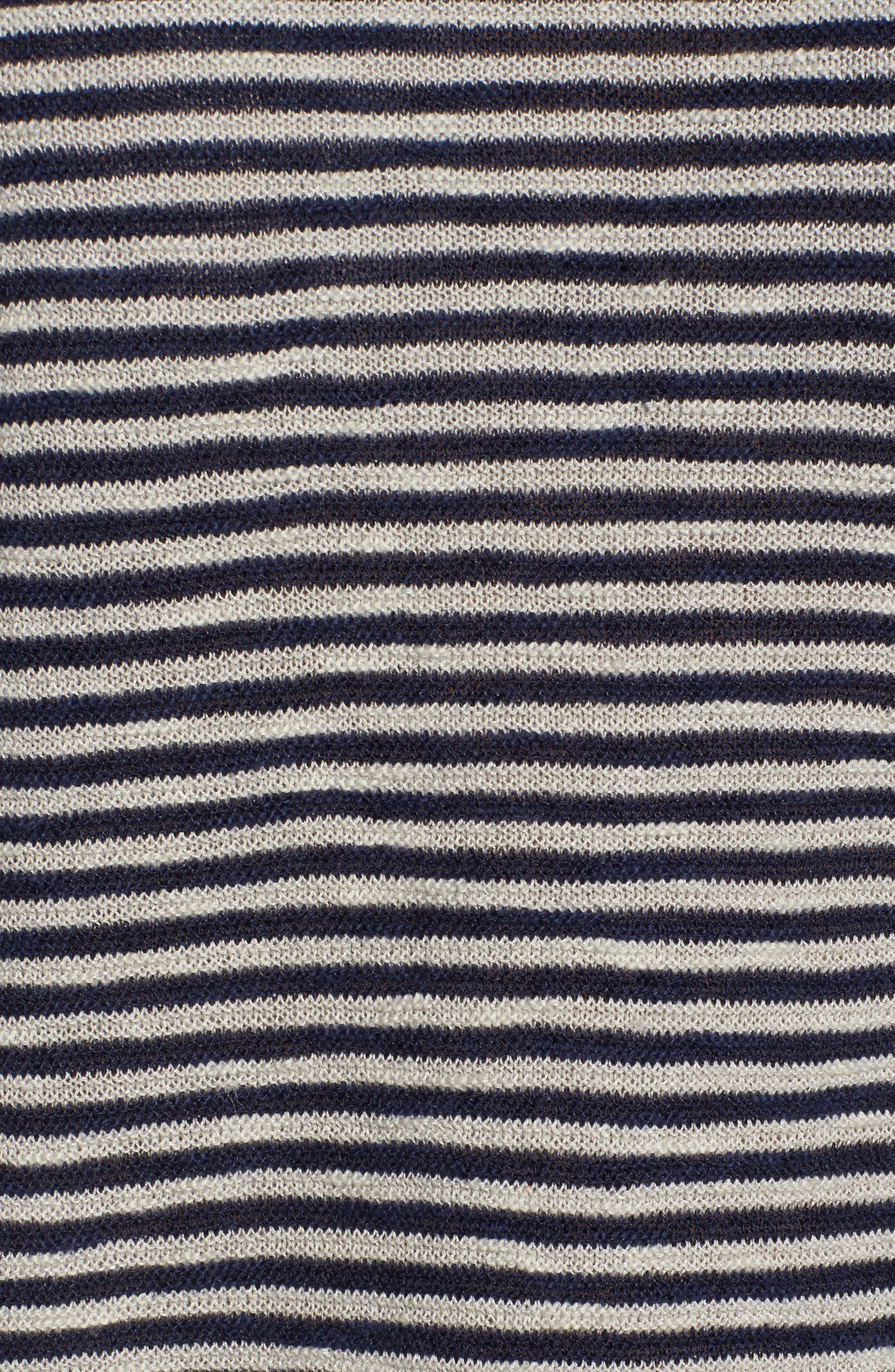 Stripe Organic Linen & Cotton Sweater,                             Alternate thumbnail 5, color,                             Midnight