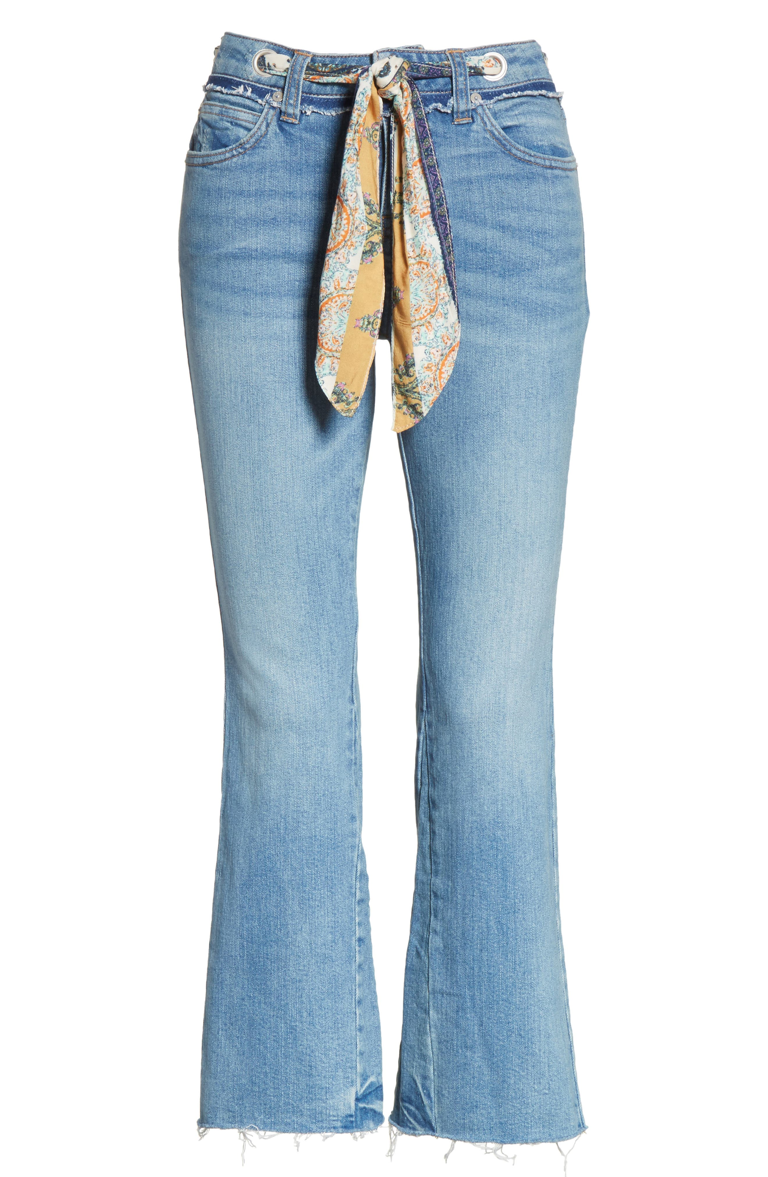Alternate Image 6  - Free People Belt Out High Waist Crop Bootcut Jeans