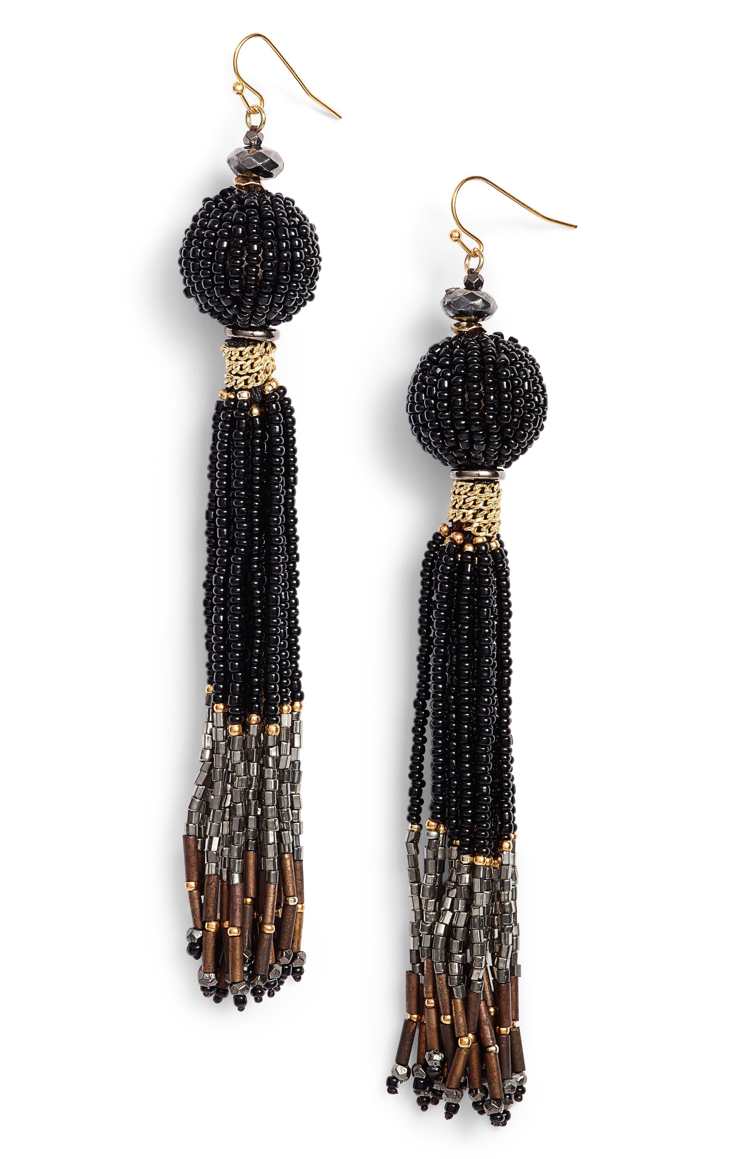 Main Image - Nakamol Design Beaded Tassel Earrings