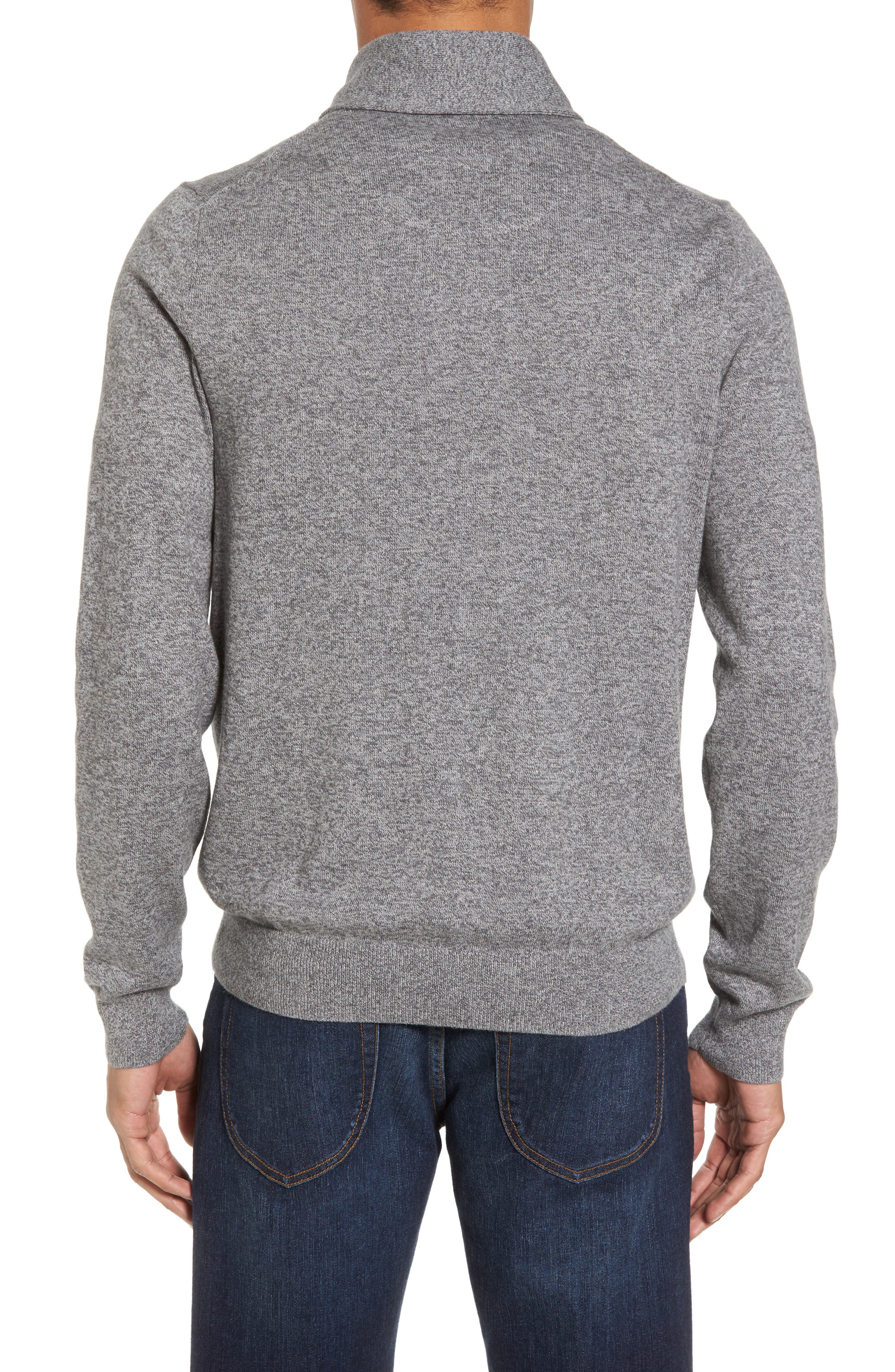 Alternate Image 2  - Nordstrom Men's Shop Cotton & Cashmere Shawl Collar Sweater (Regular & Tall)