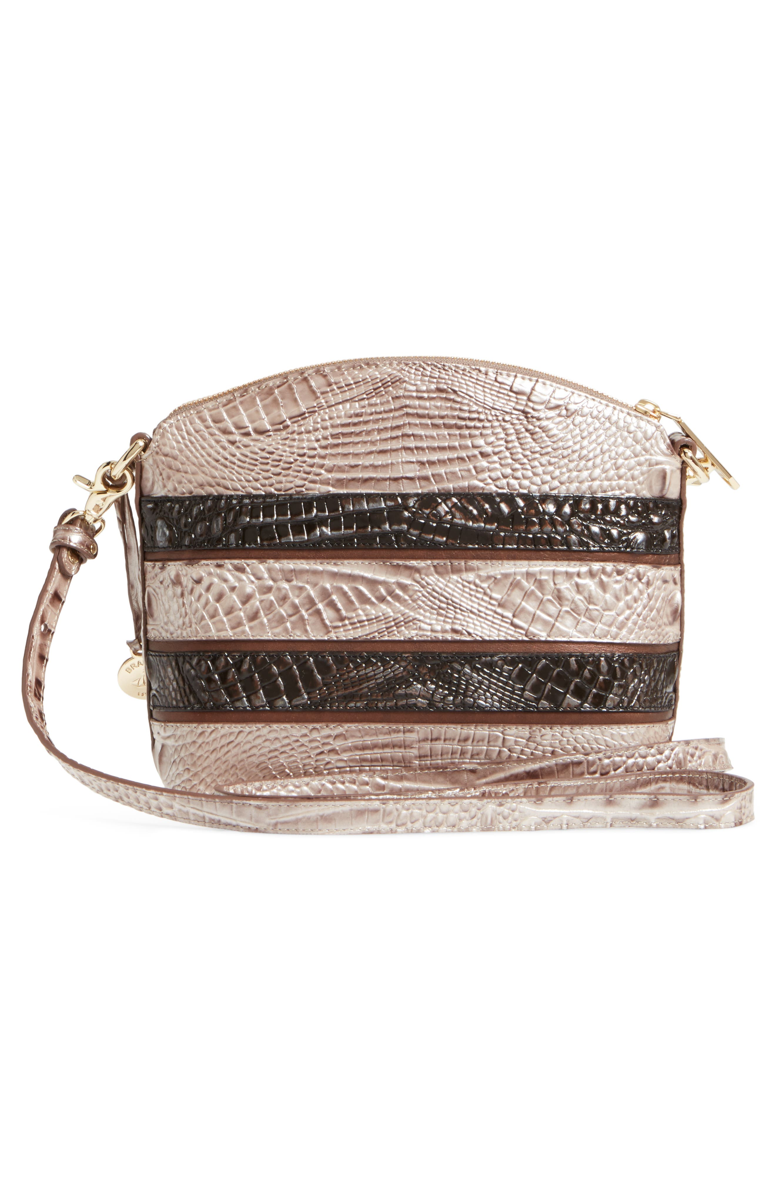 Mini Duxbury Leather Crossbody Bag,                             Alternate thumbnail 3, color,                             Chardonnay