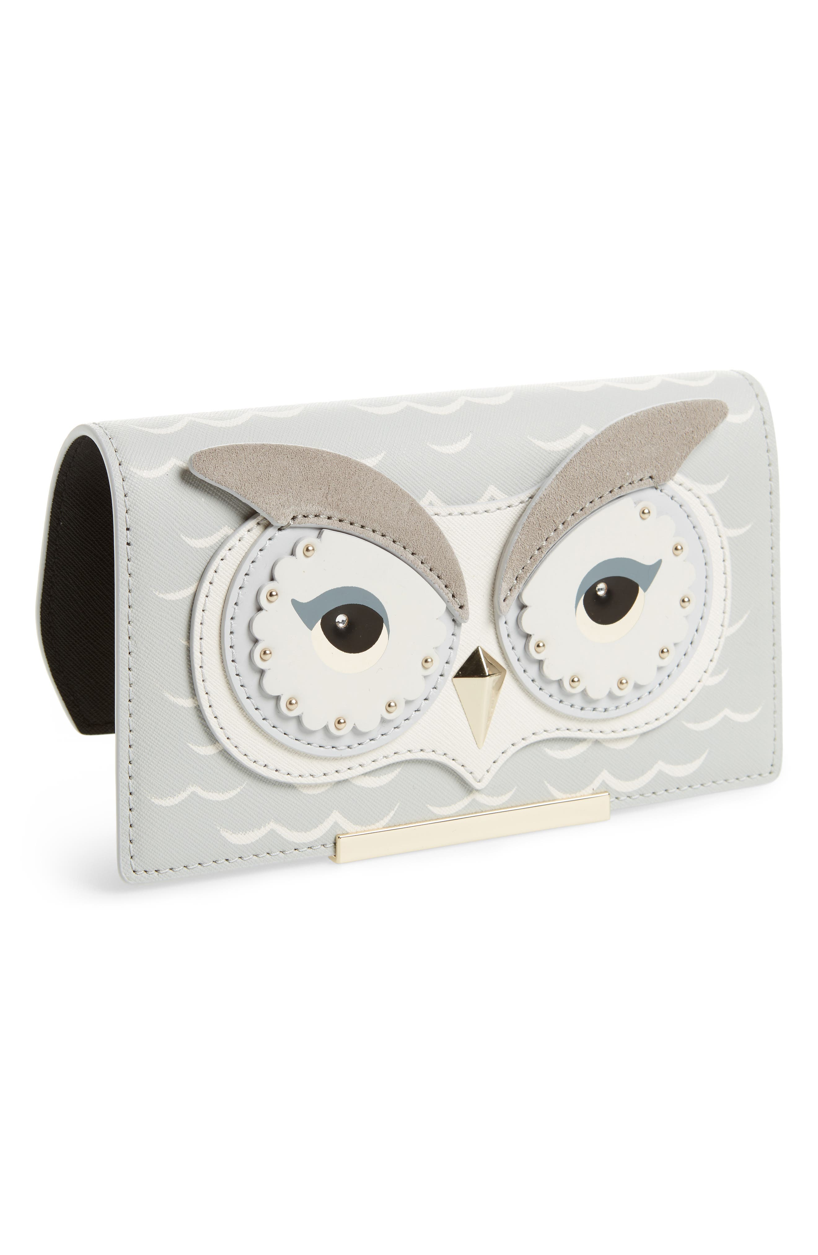 kate spade new york make it mine owl snap-on accent flap