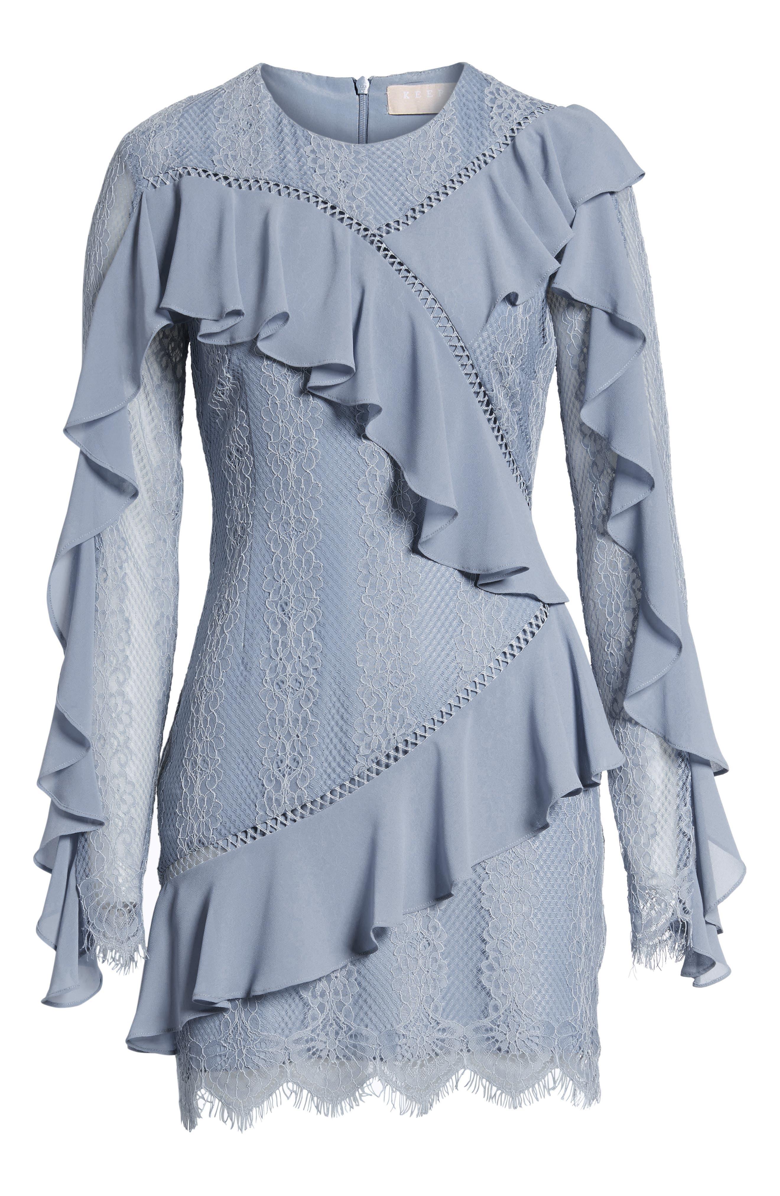 Alternate Image 7  - Keepsake the Label Better Days Lace Minidress