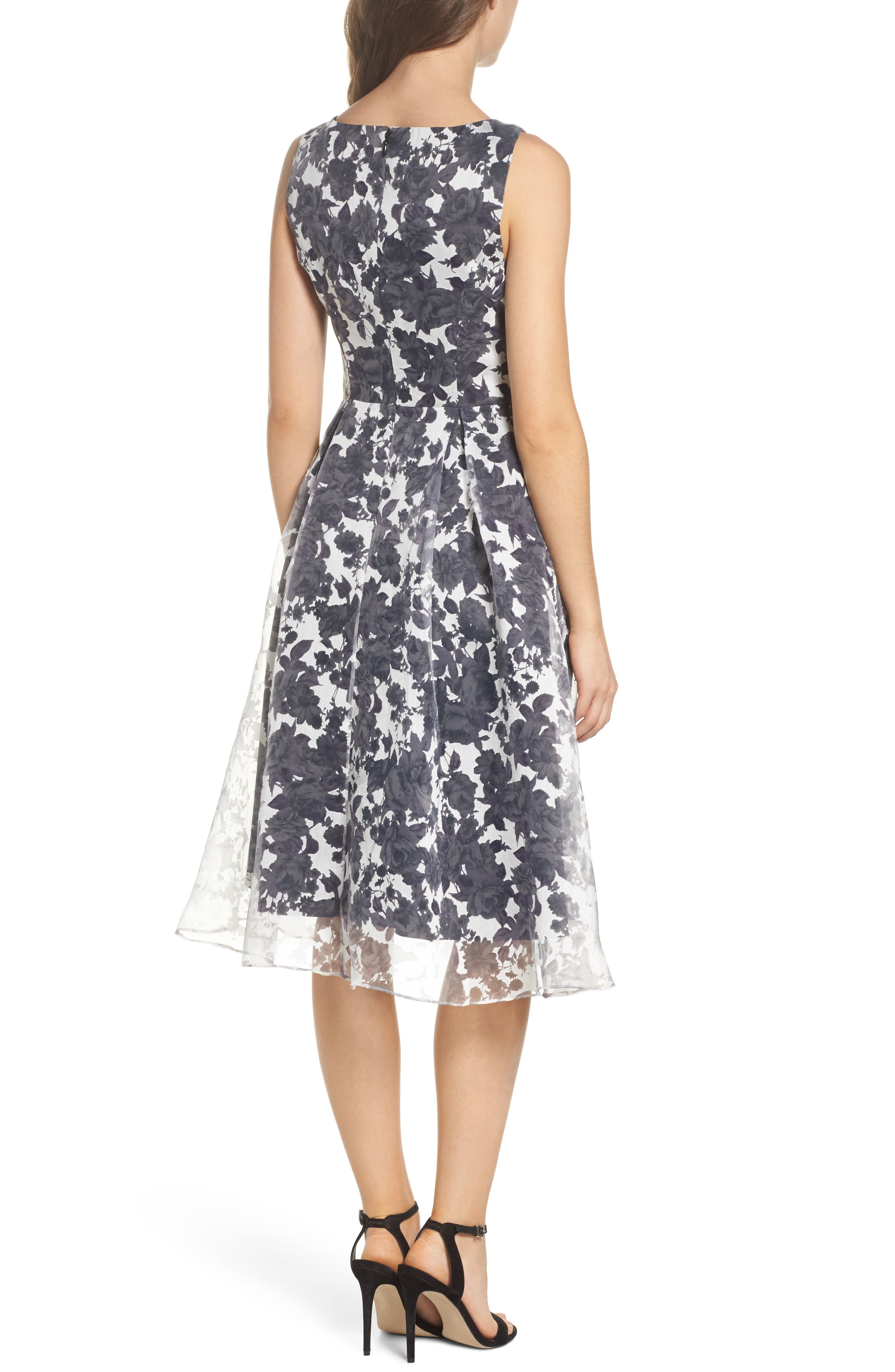 Alyssa Fit & Flare Dress,                             Alternate thumbnail 2, color,                             Lilac Mist