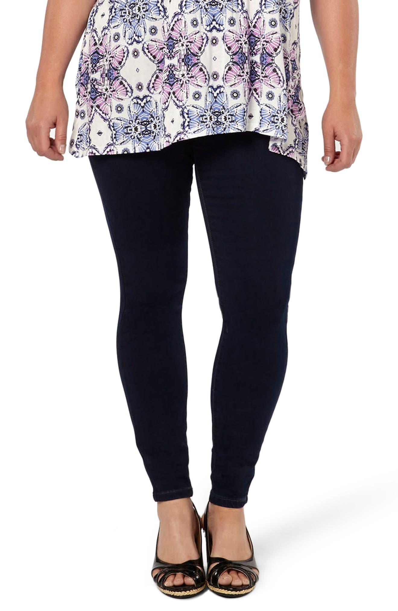 Evans Stretch Skinny Jeans (Indigo) (Plus Size)