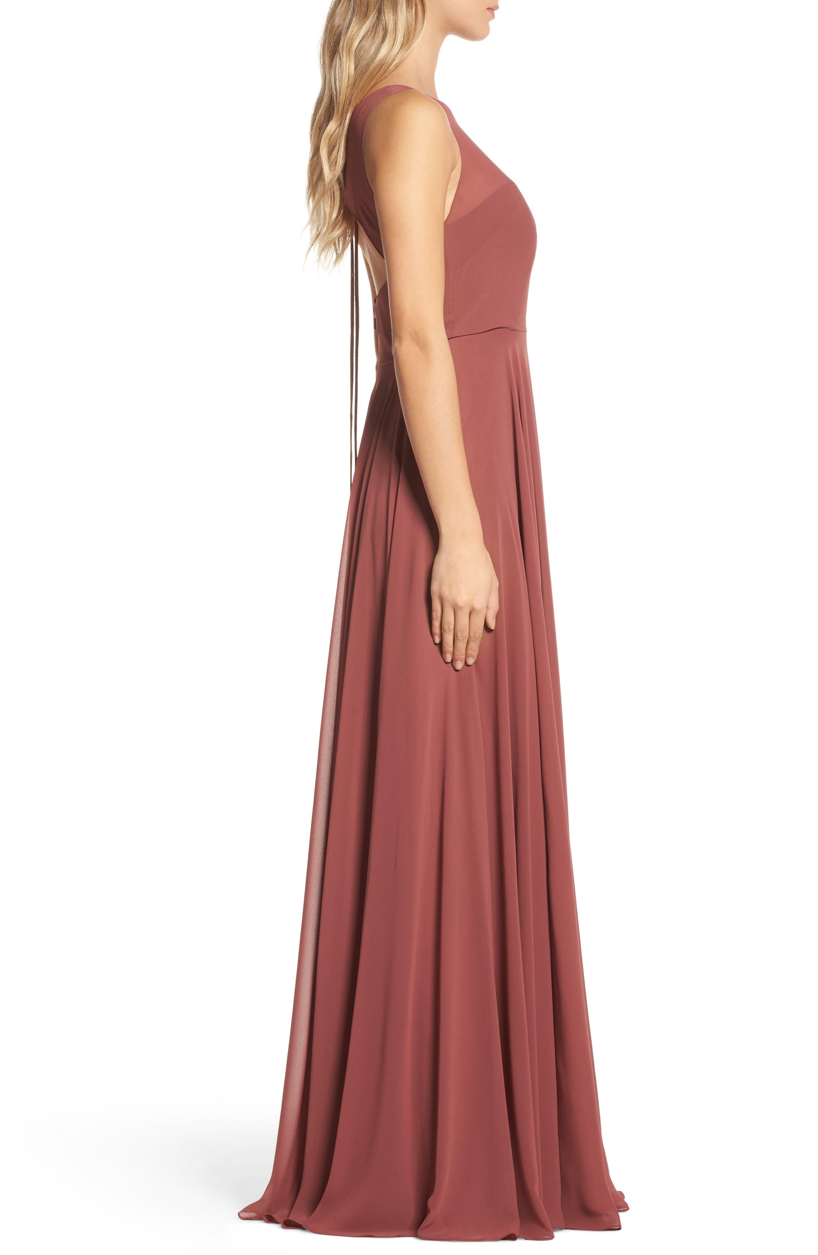 Alternate Image 3  - Jenny Yoo Elizabeth Chiffon Gown