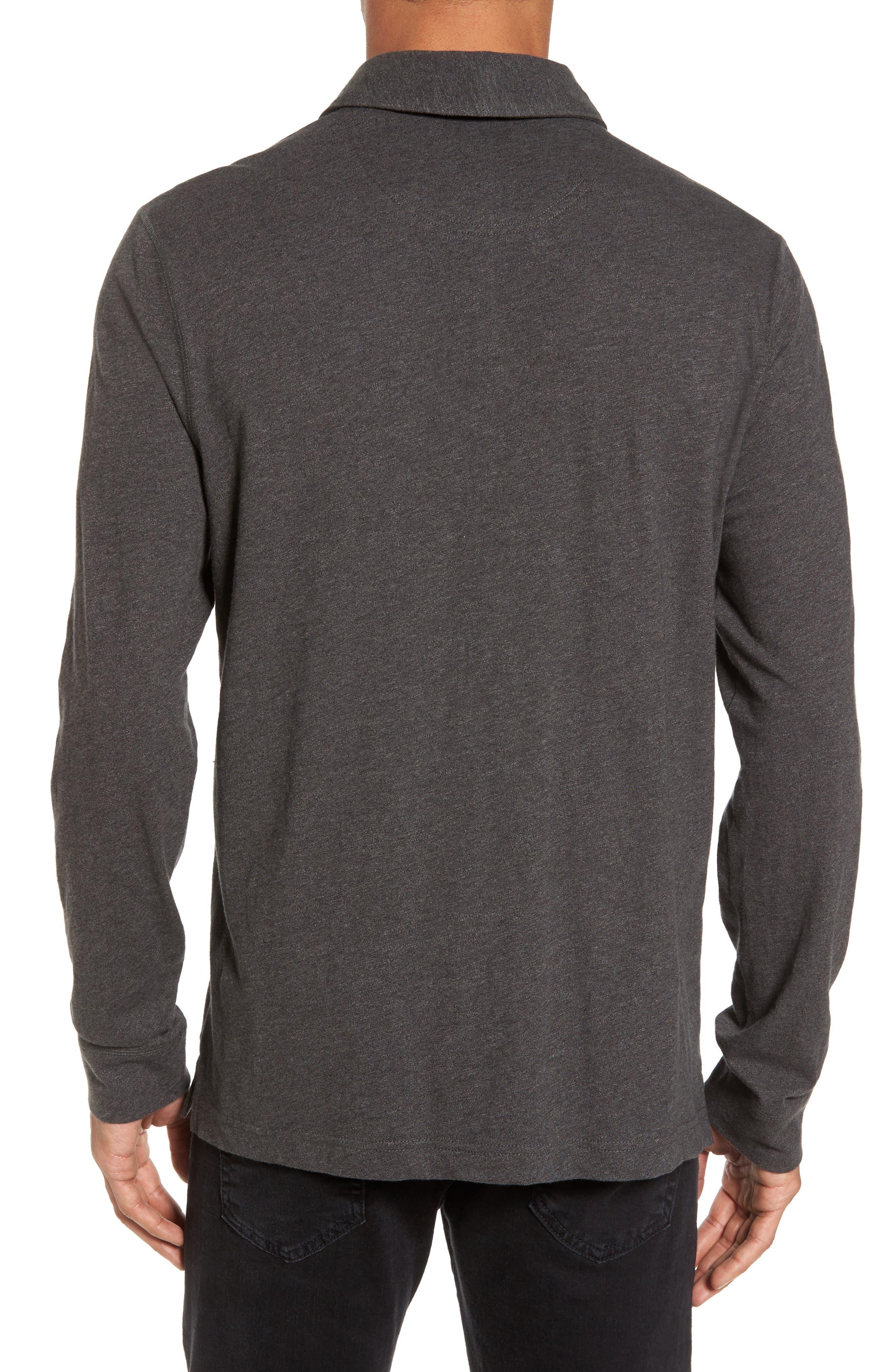 Long Sleeve Polo,                             Alternate thumbnail 2, color,                             Grey Phantom