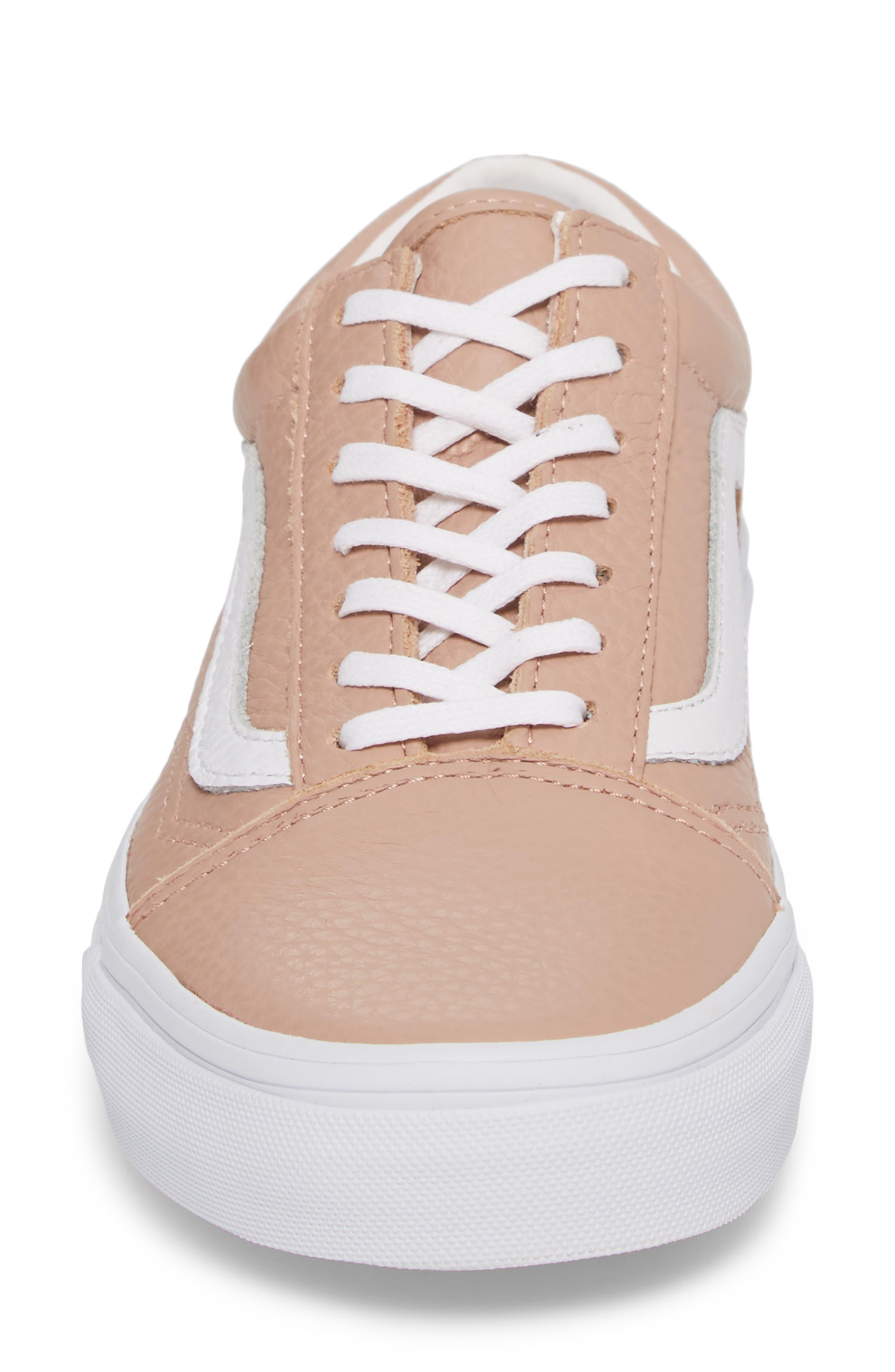 Old Skool DX Sneaker,                             Alternate thumbnail 4, color,                             Mahogany Rose/ True White