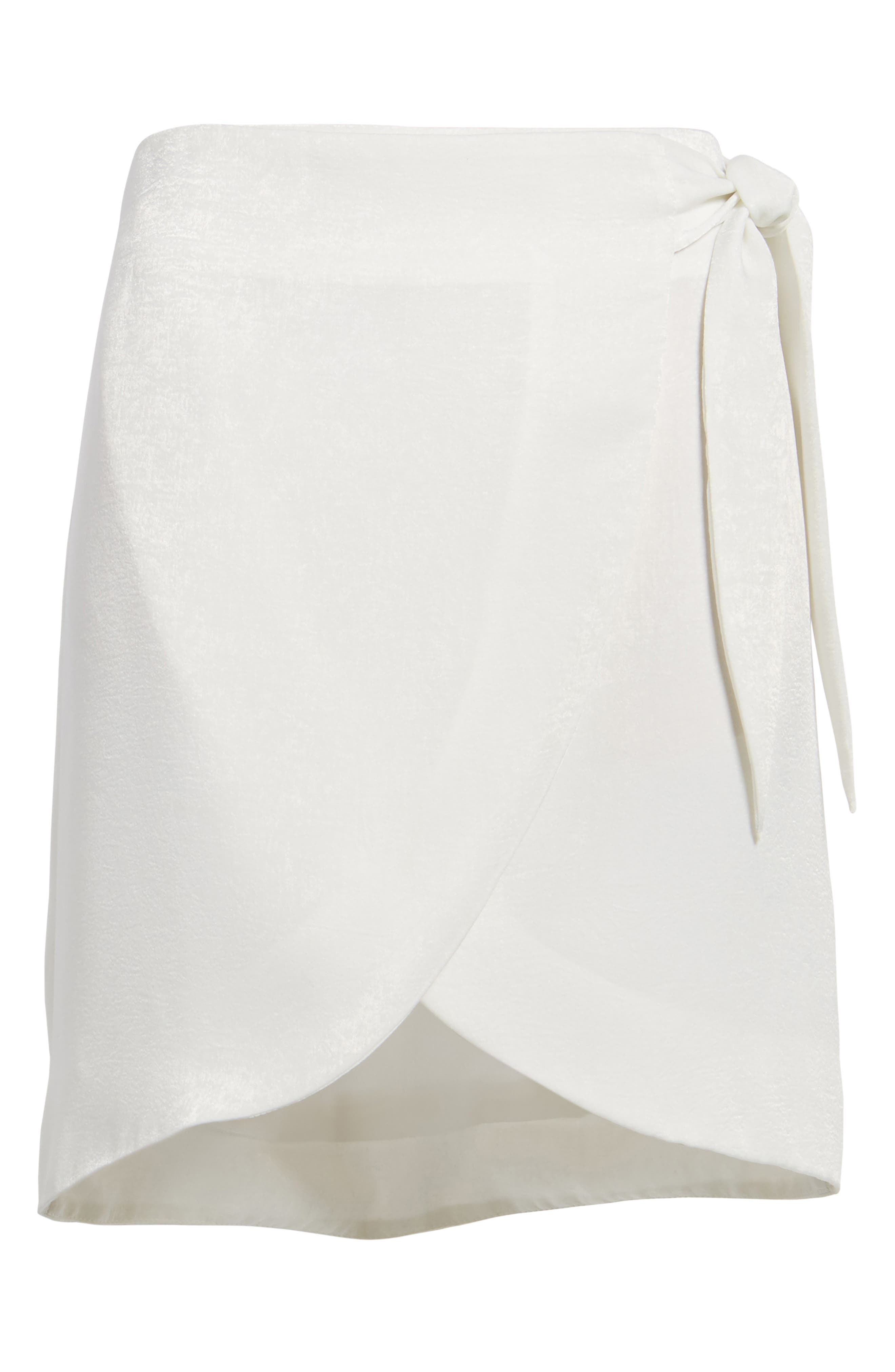 Wrap Skirt,                             Alternate thumbnail 6, color,                             White