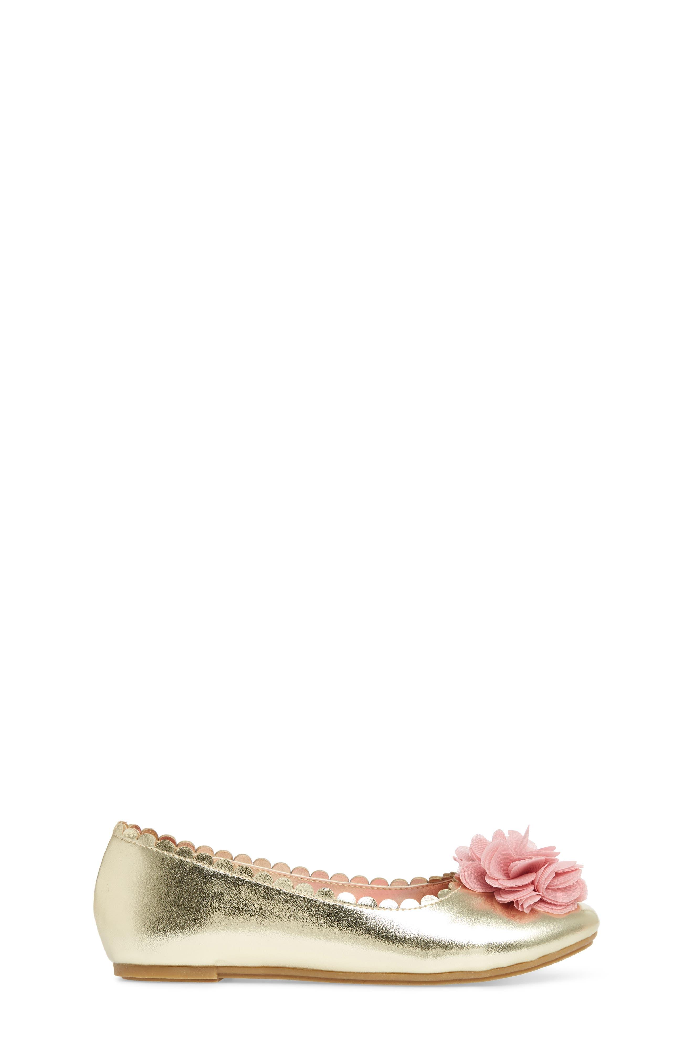 Alternate Image 3  - WellieWishers from American Girl Ashlyn Flower Ballet Flat (Toddler, Little Kid & Big Kid)
