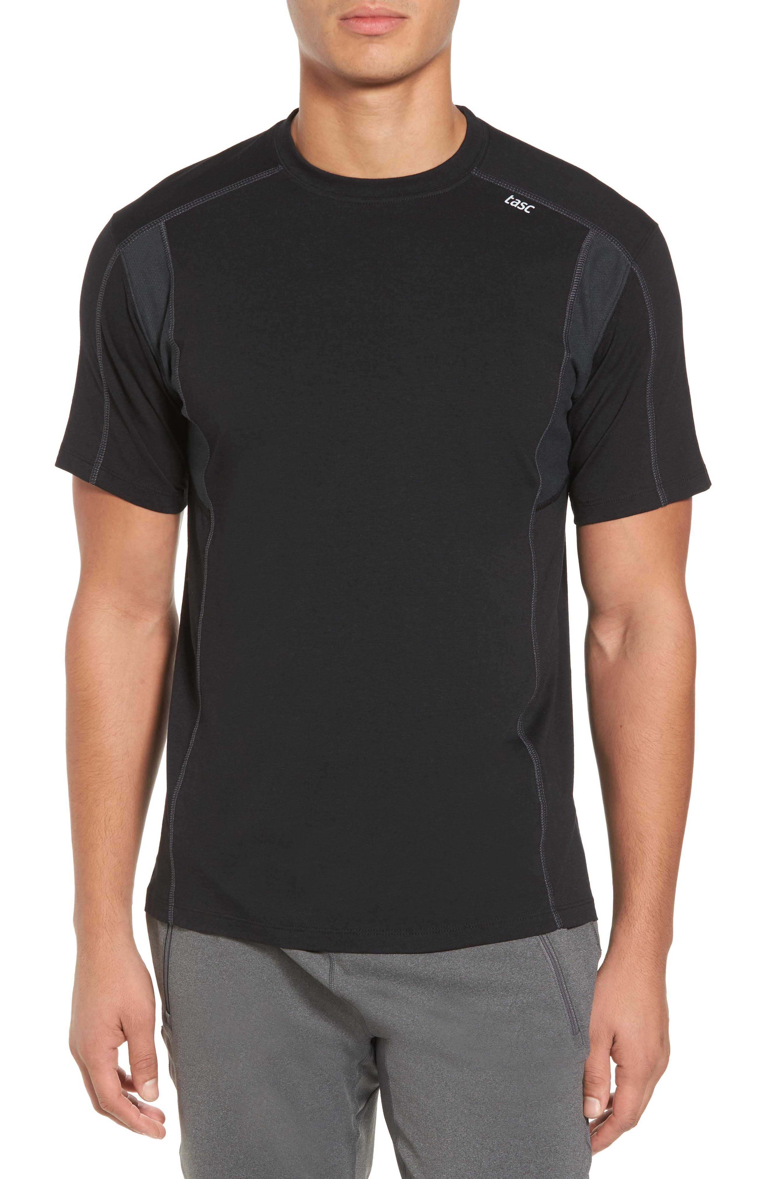 Charge Semi-Fitted T-Shirt,                         Main,                         color, Black/ Gunmetal