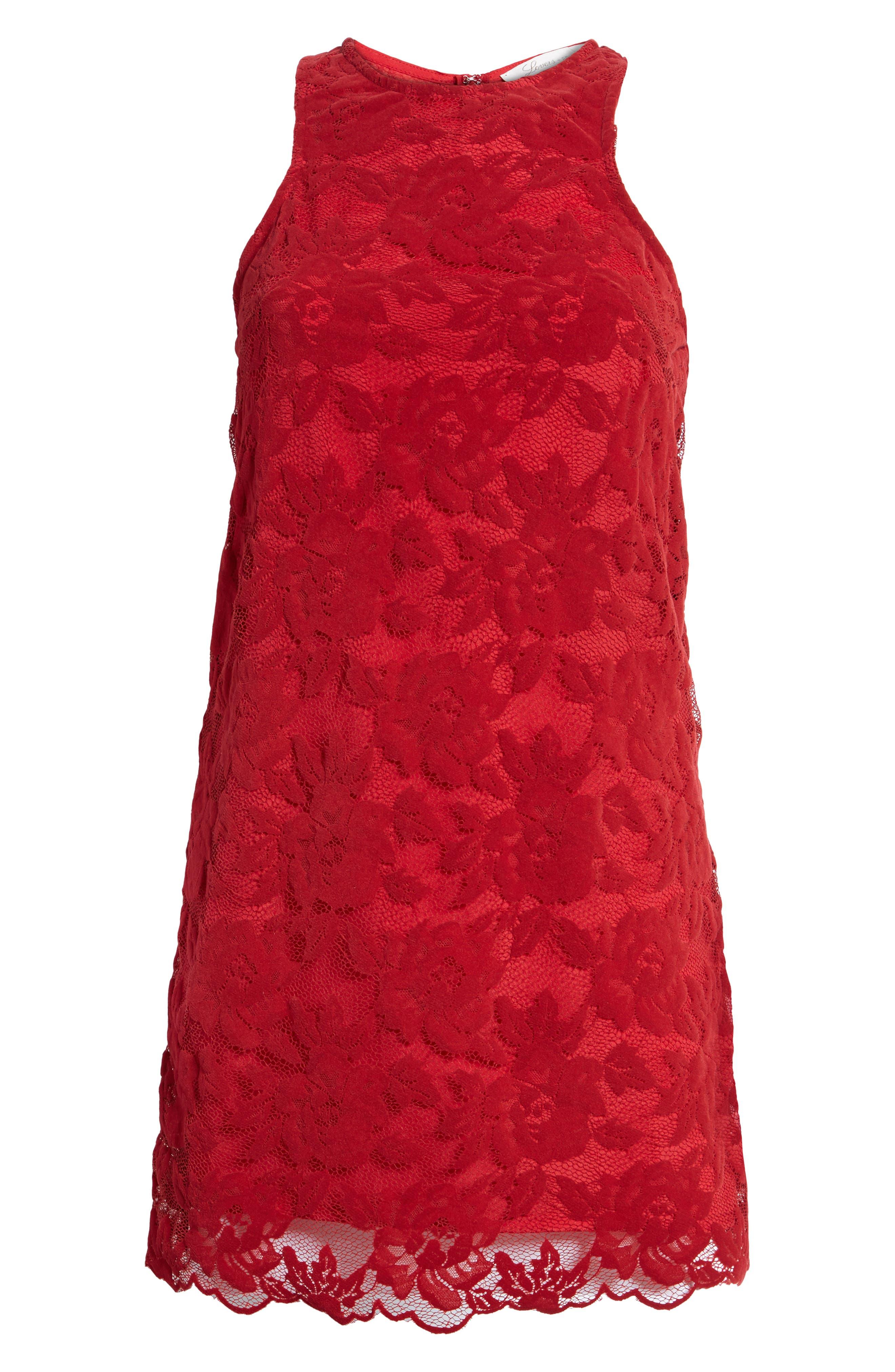 Caspian Lace Sheath Dress,                             Alternate thumbnail 6, color,                             Bordeaux