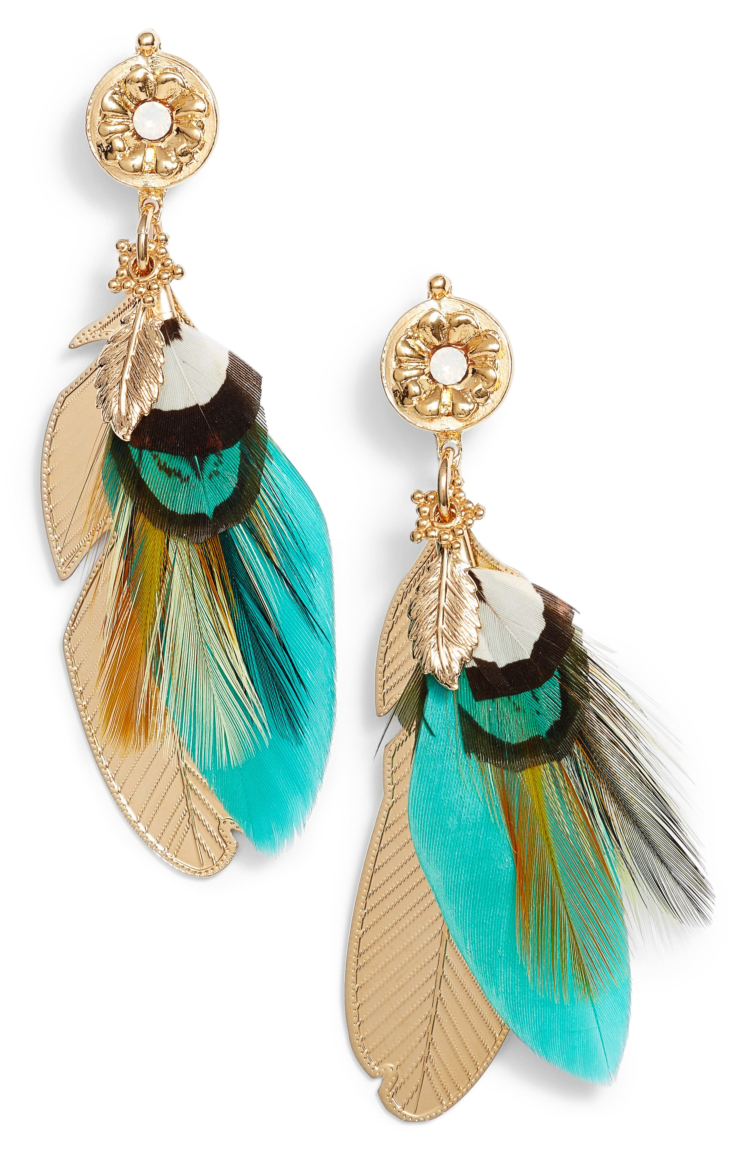 Gas Bijoux Small Sao Feather Earrings