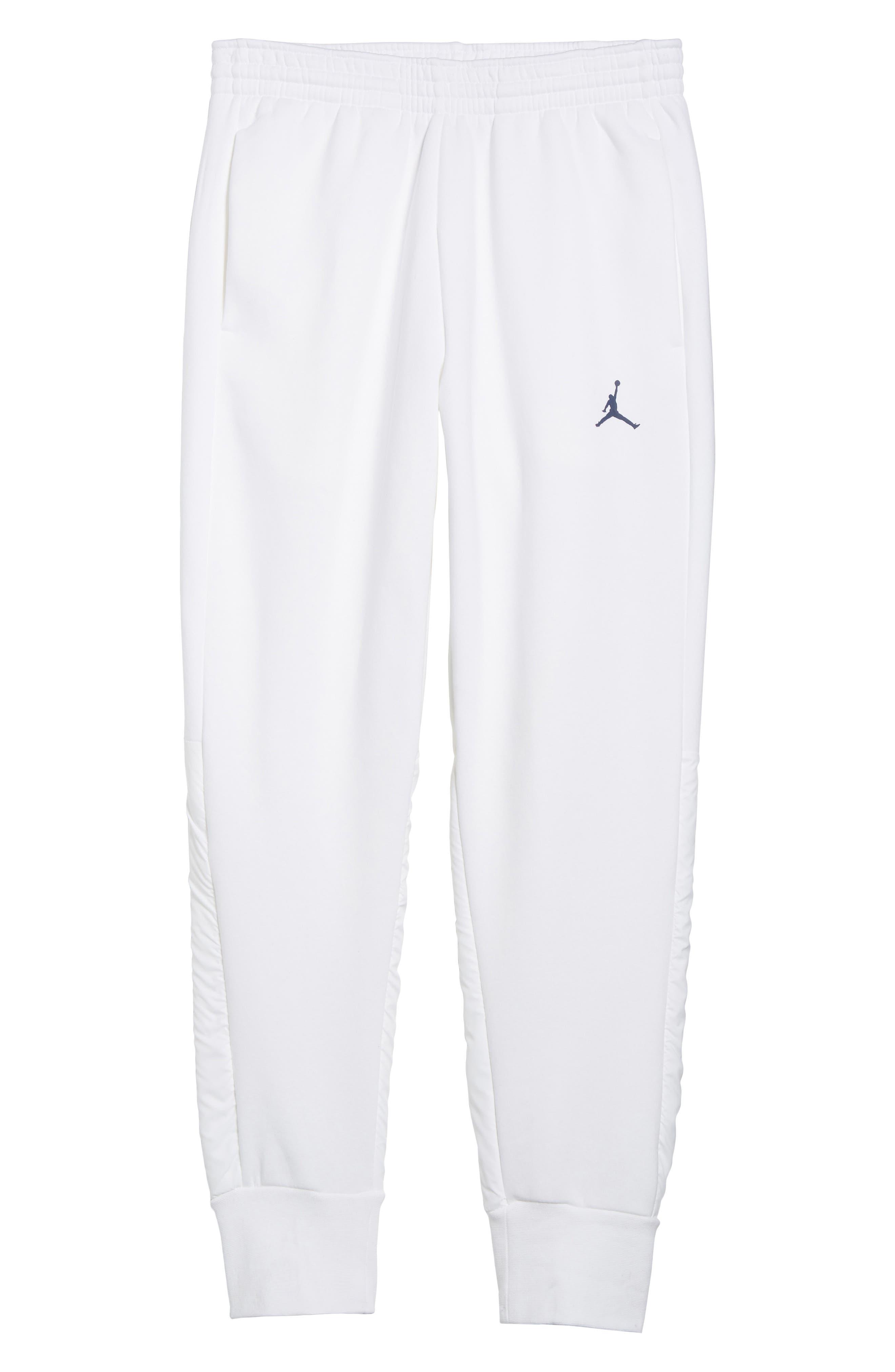 Jordan AJ11 Hybrid Pants,                             Alternate thumbnail 6, color,                             White