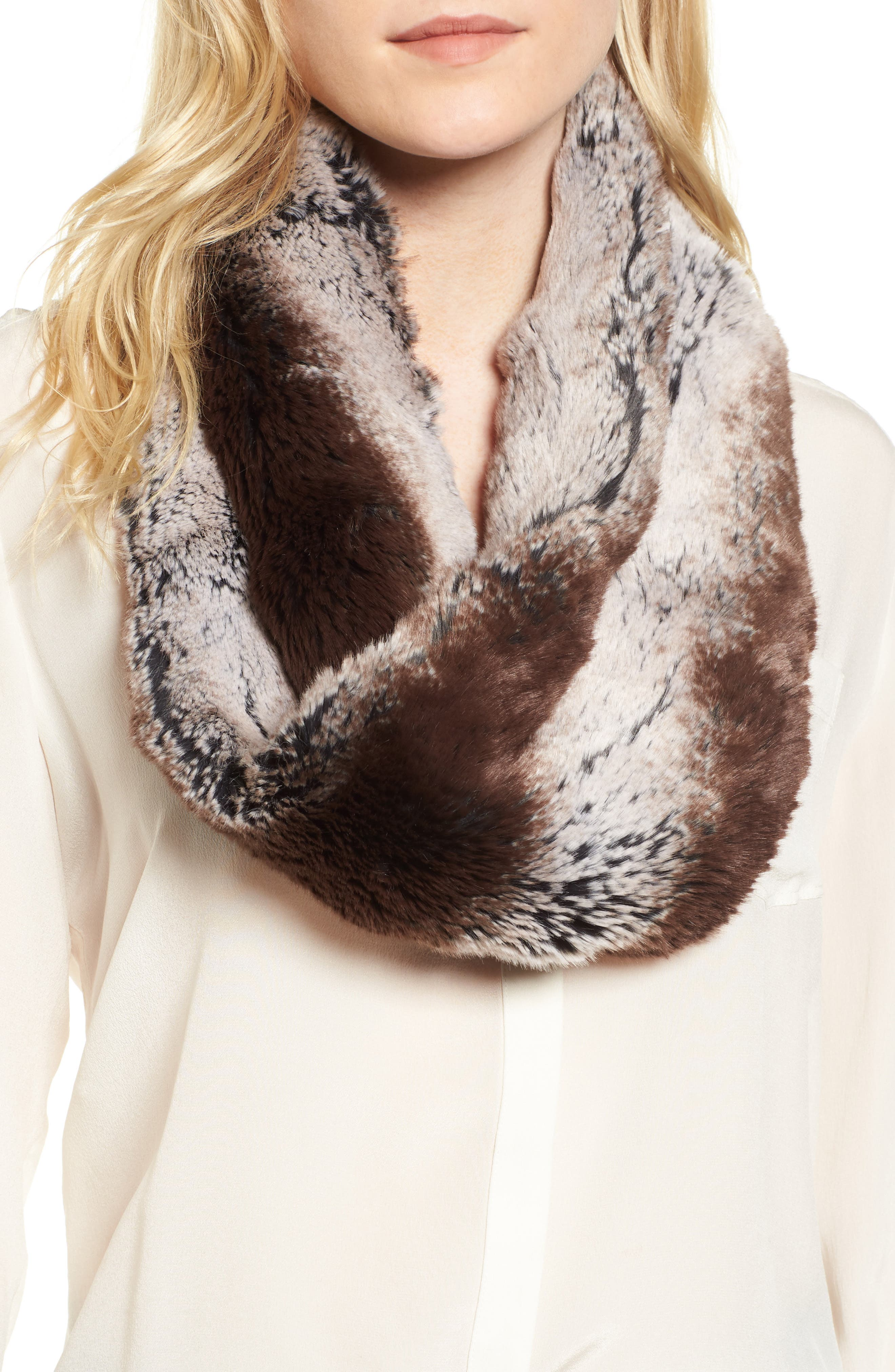 Alternate Image 1 Selected - Badgley Mischka Faux Chinchilla Neck Warmer