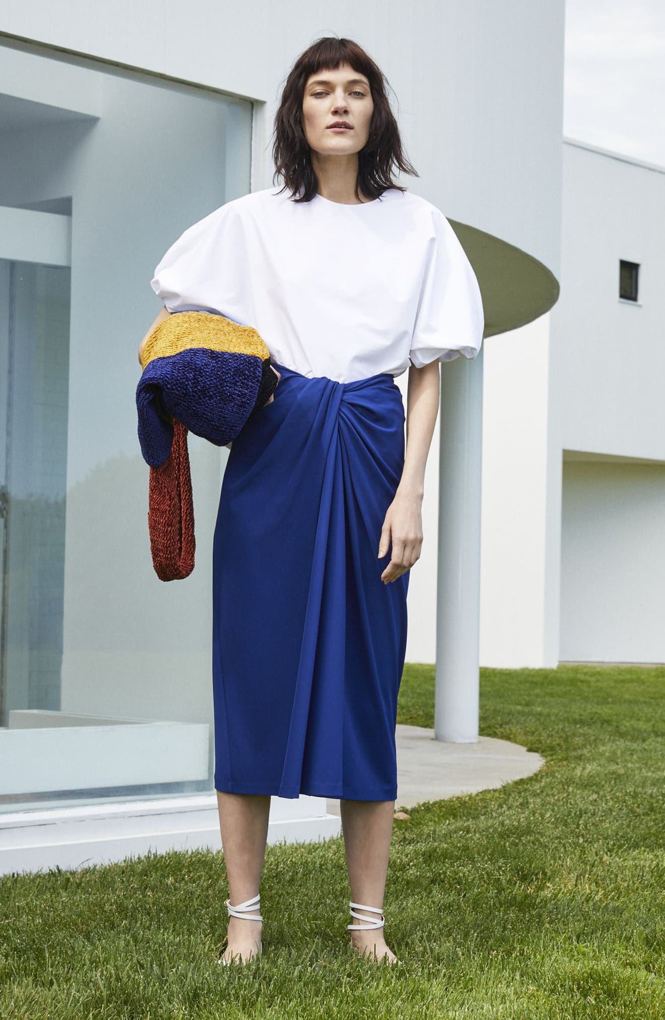 Alternate Image 2  - Rosetta Getty Jersey Twist Front Midi Skirt