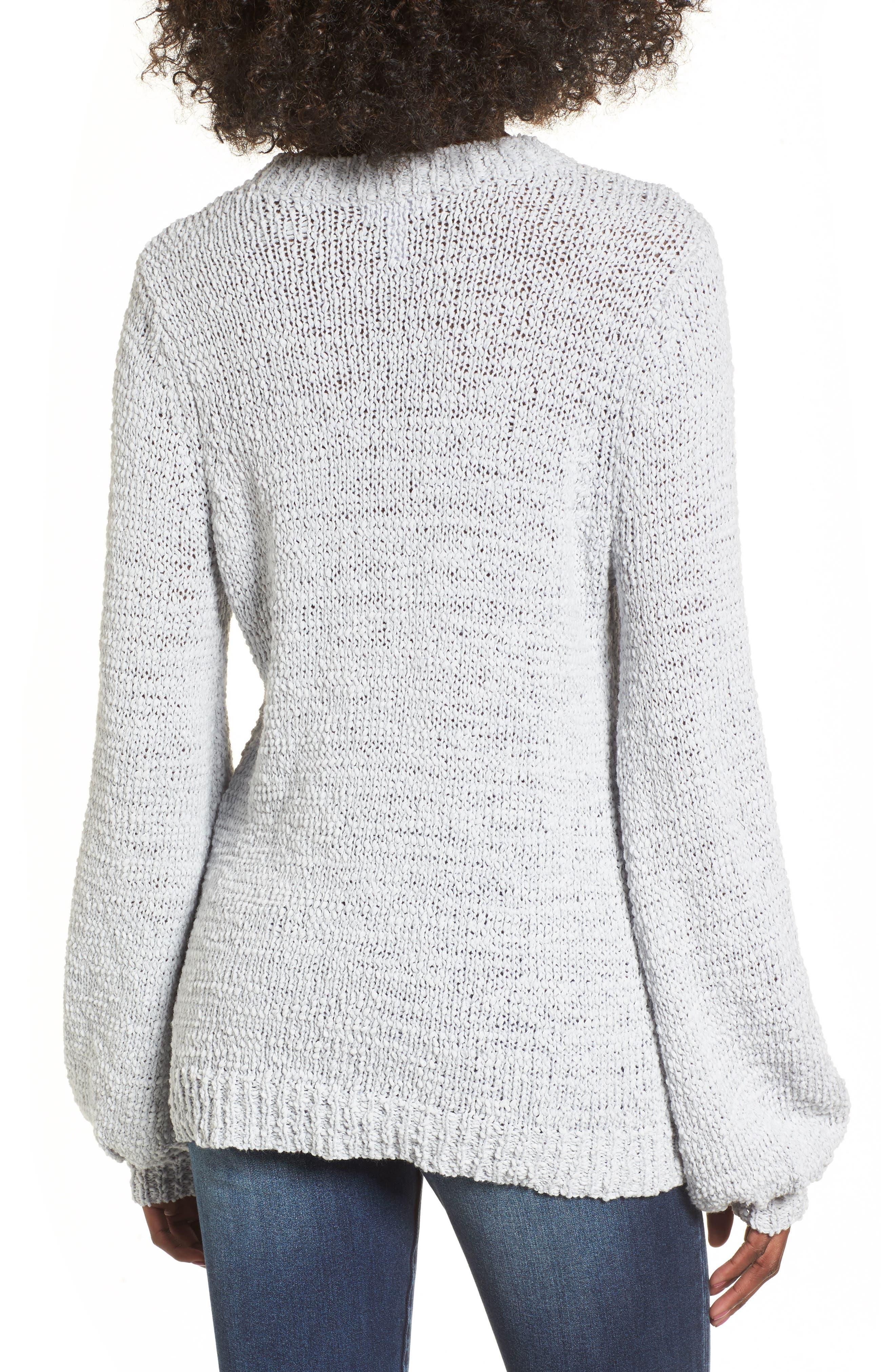 Alternate Image 2  - Leith Blouson Sleeve Tape Yarn Sweater